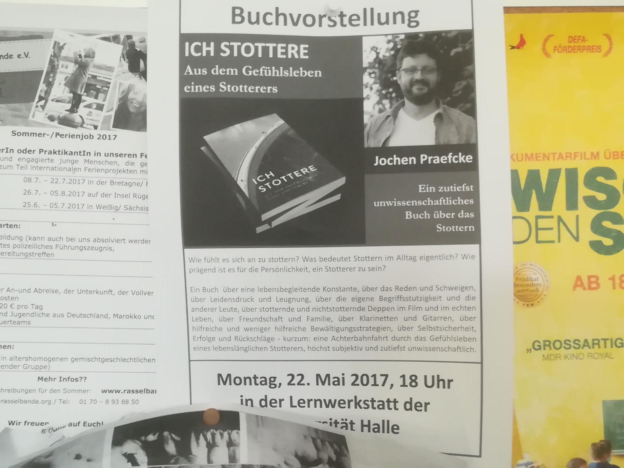 Aushang an der Martin-Luther-Universität, Halle (Saale)