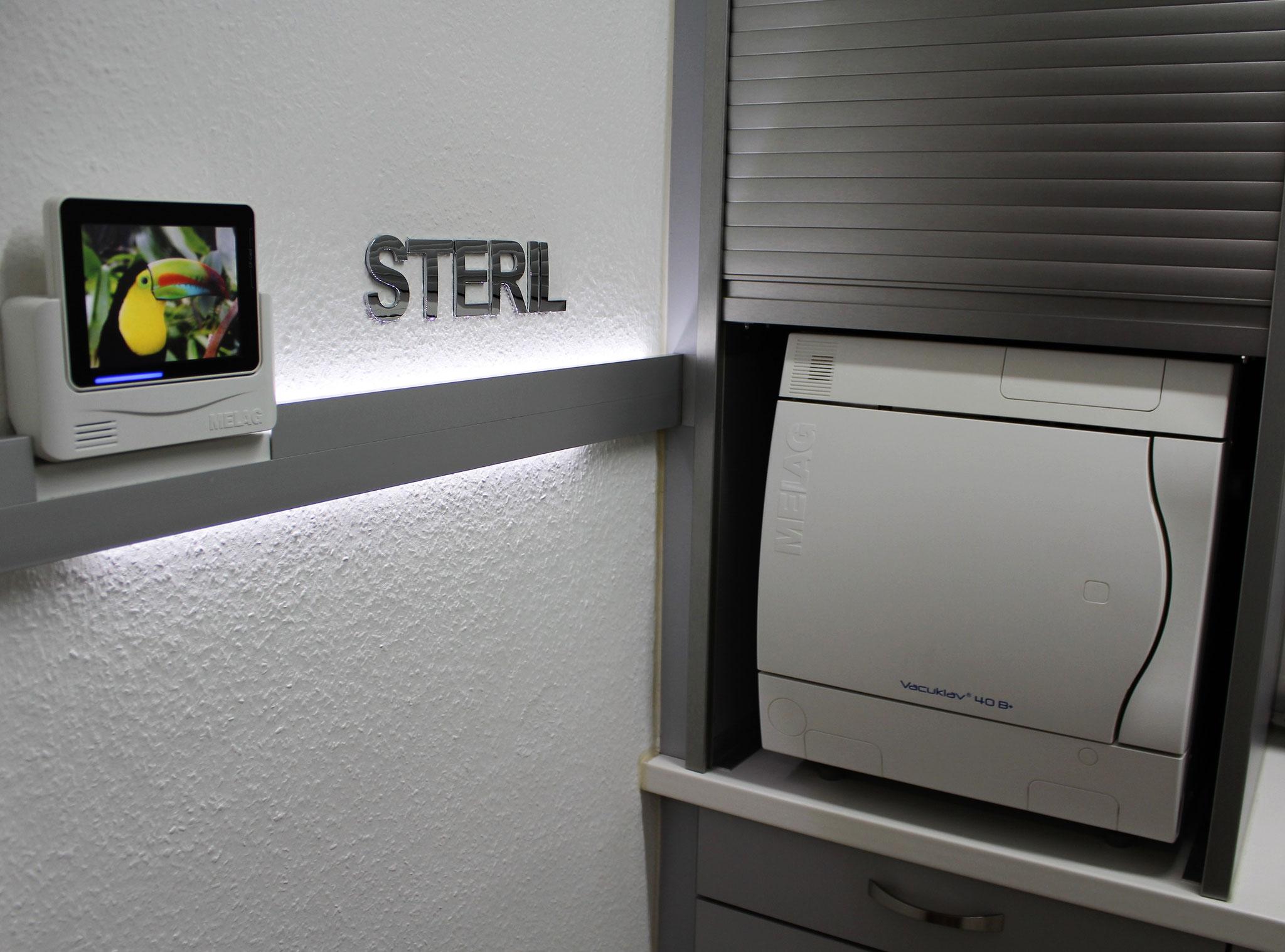 Autoklav im Hygieneraum - zur Prozesskontrolle digital vernetzt