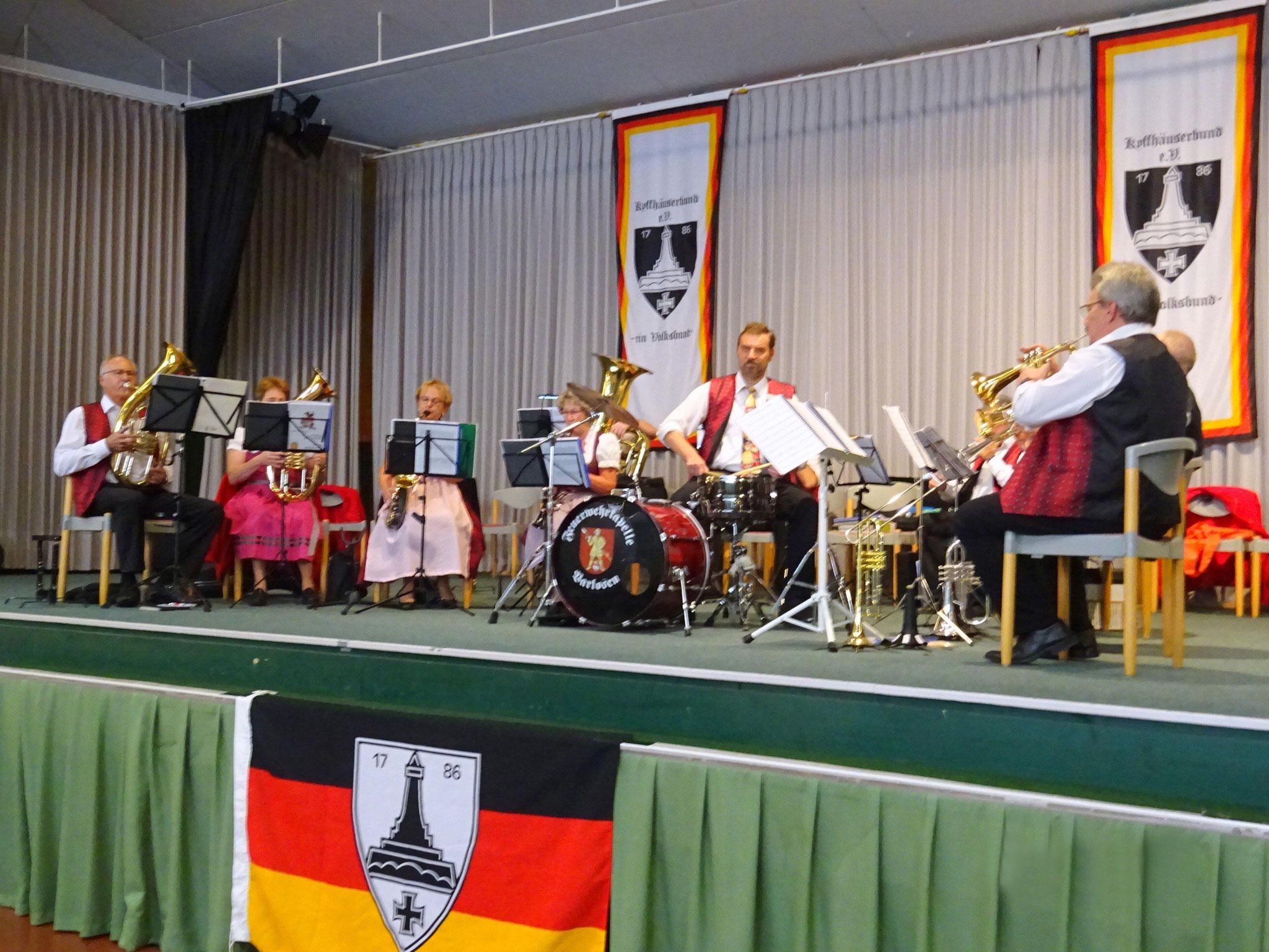 Das Blasorchester der Feuerwehr Varlosen.
