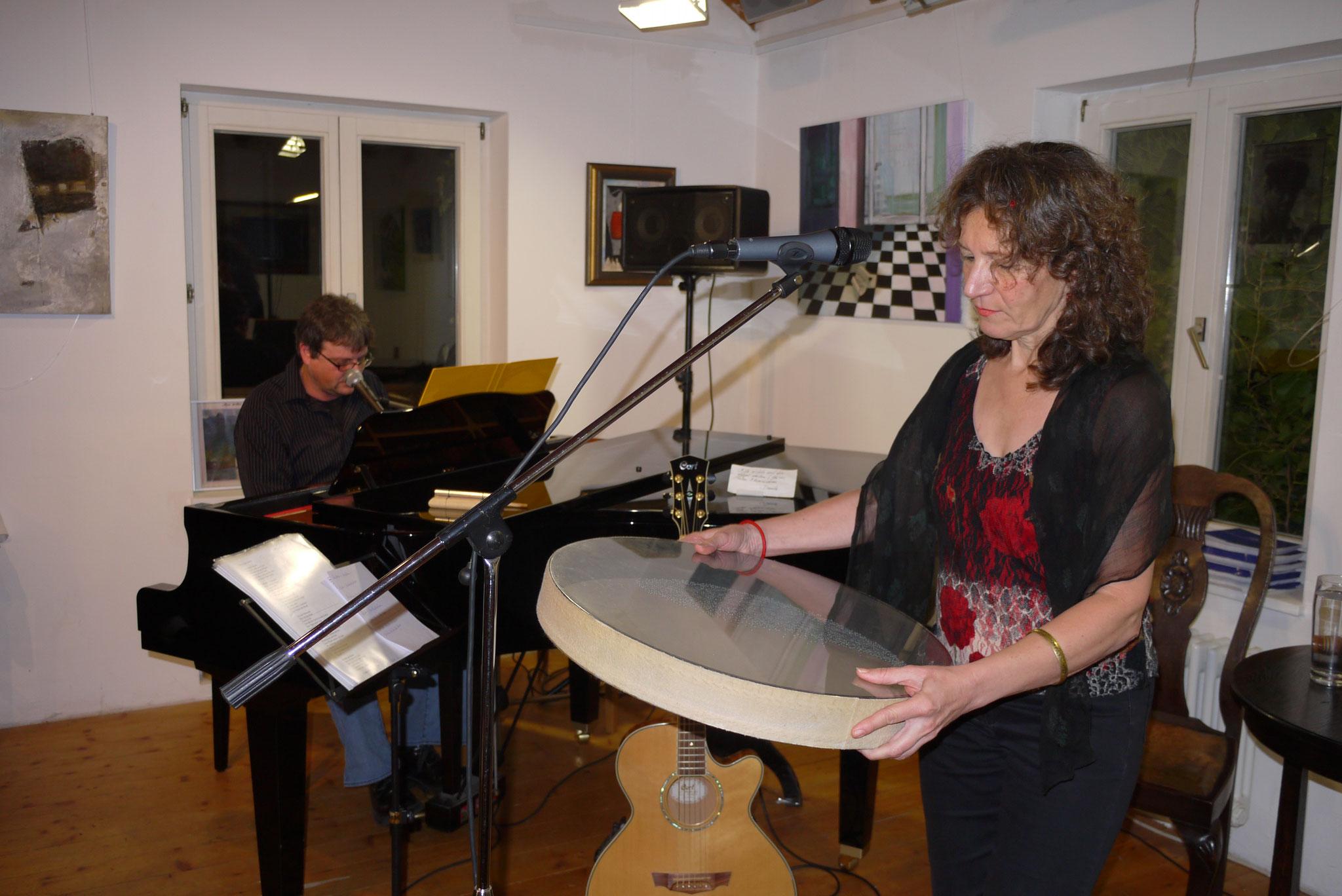 13.11.2010 Duo Herzton (mit Karel Kaiser) im Café Bernstein, Feucht