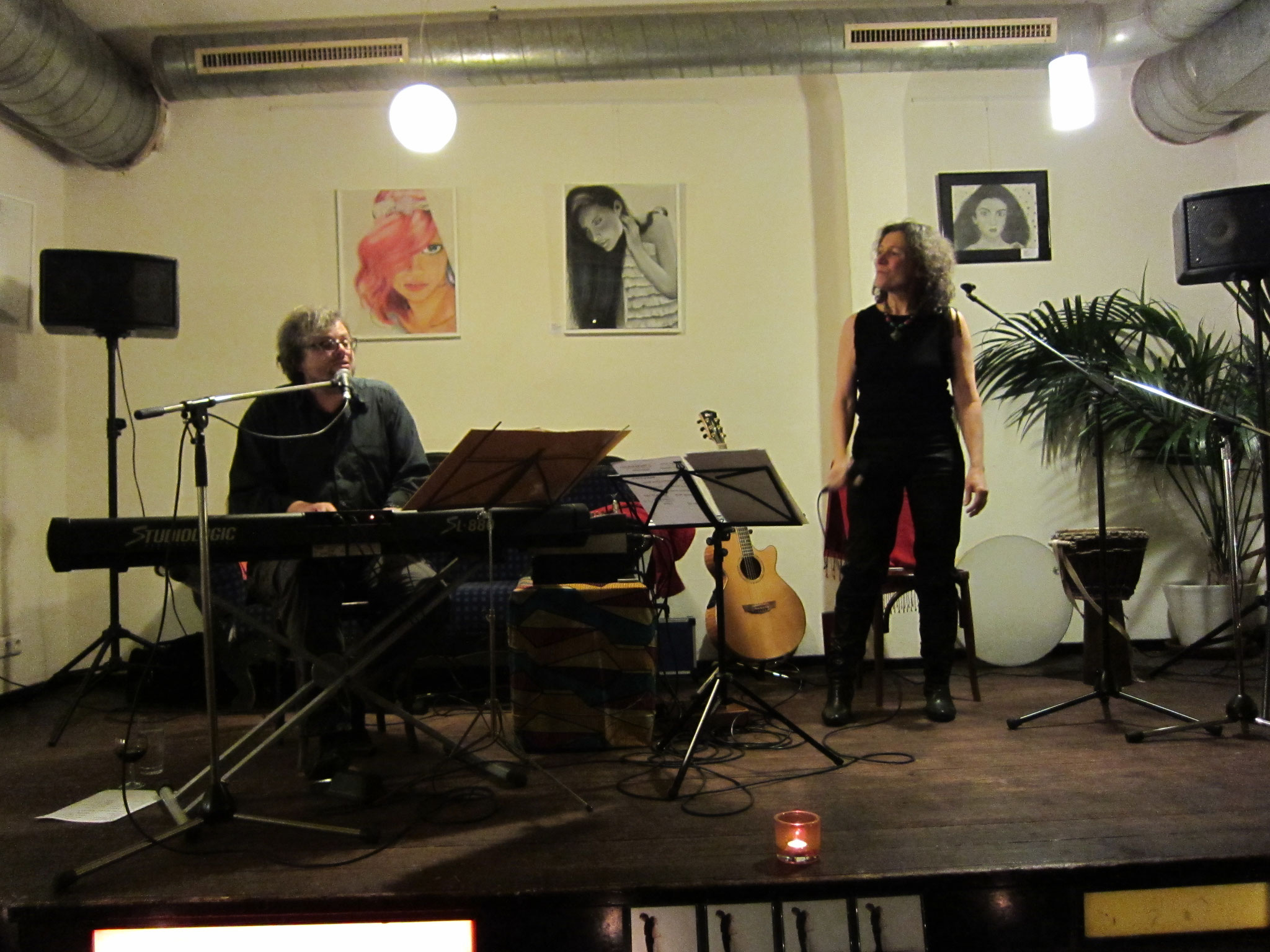 23.02.2013 Duo Herzton (mit Karel Kaiser) im Balazzo Brozzi, Nürnberg (Foto Katharina Hubner)