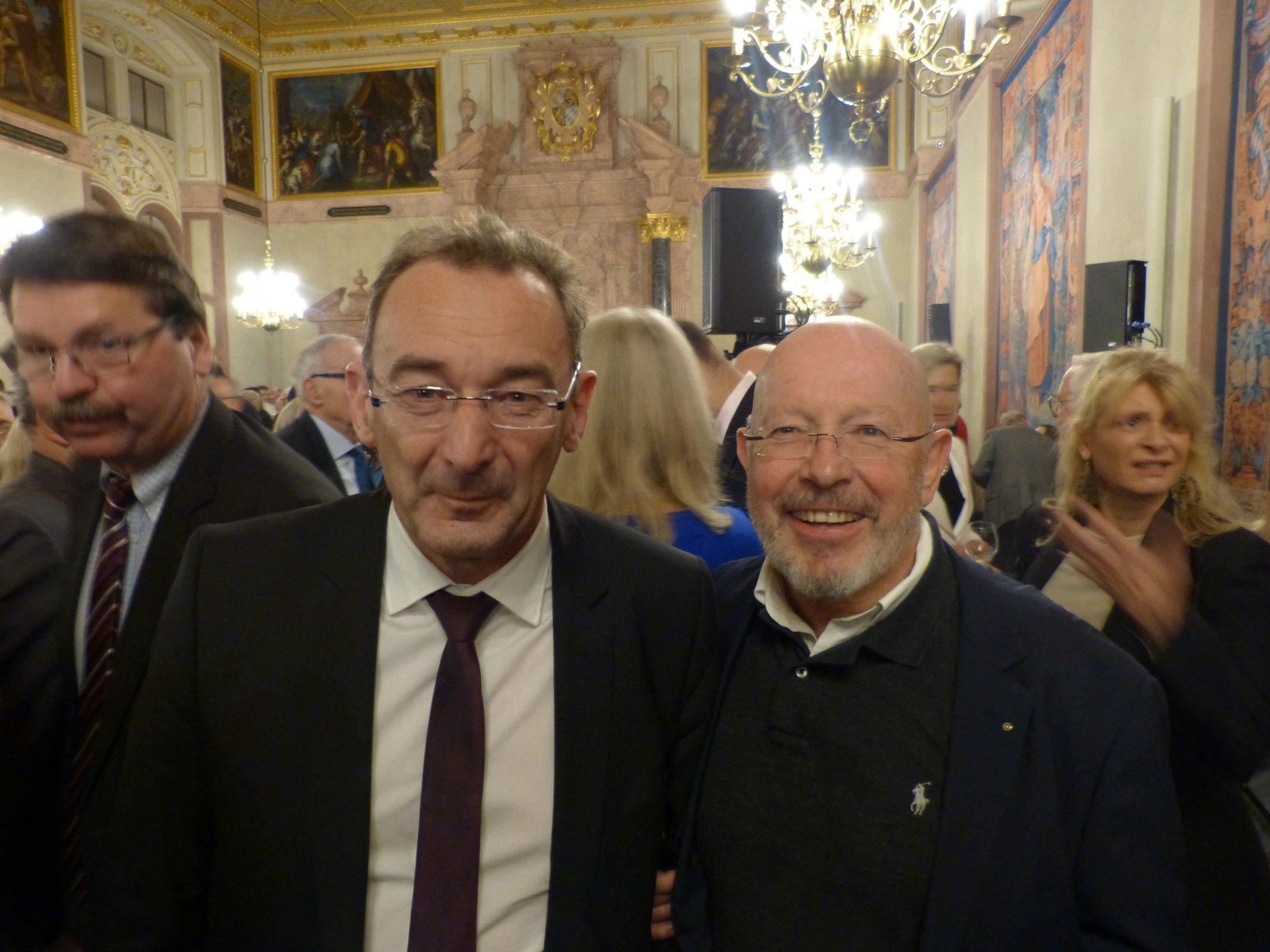 BRSI Vorstand Dr. Dieter Körner mit dem WBU-Generalsekretär Dr. Johann Schachtner