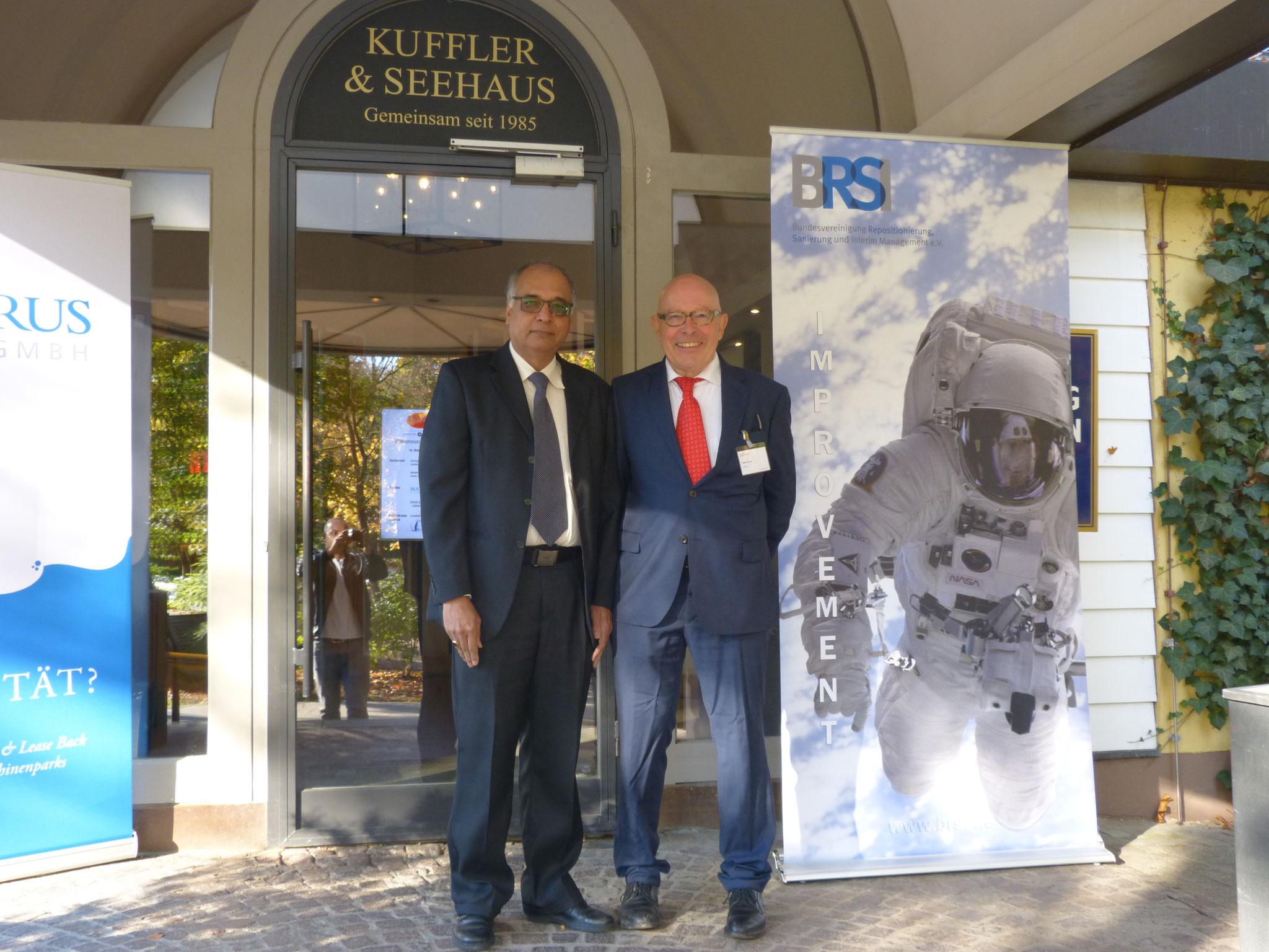 Dr. Tariq (BRSI Direktor Middle East) und Dr. Körner (BRSI Geschäftsführender Vorstand)