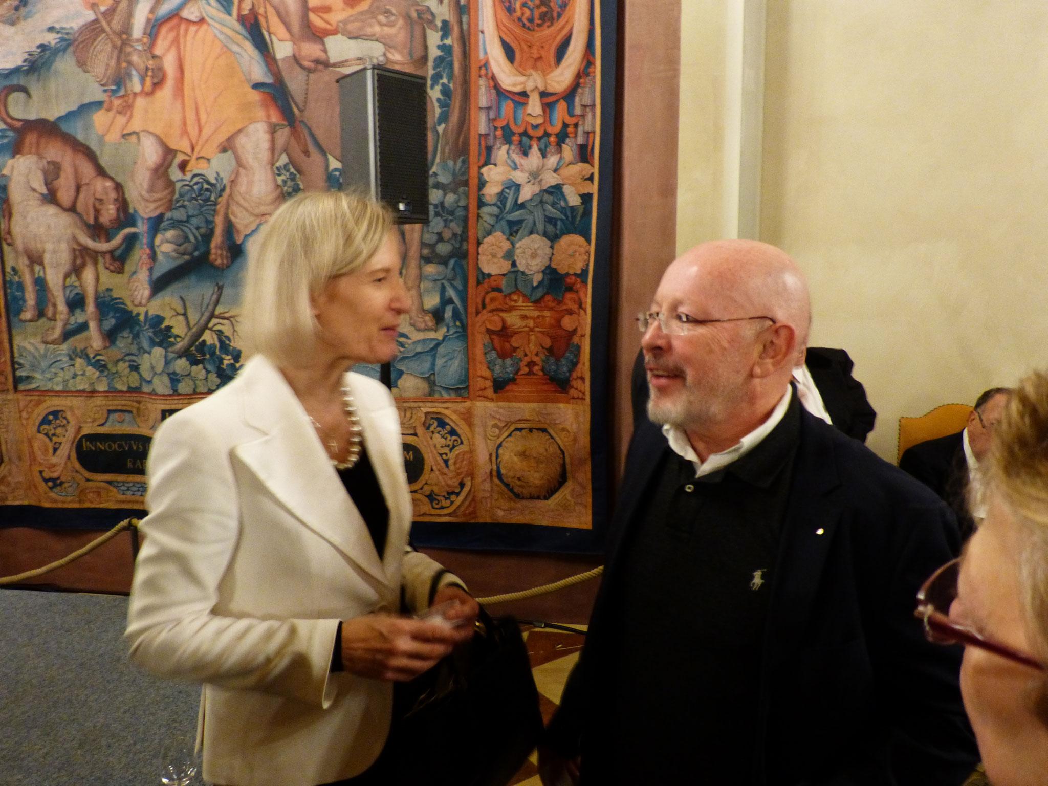 BRSI Vorstand Dr. Dieter Körner im Gespräch mit der WBU Präsidentin Frau Prof. Angelika Niebler