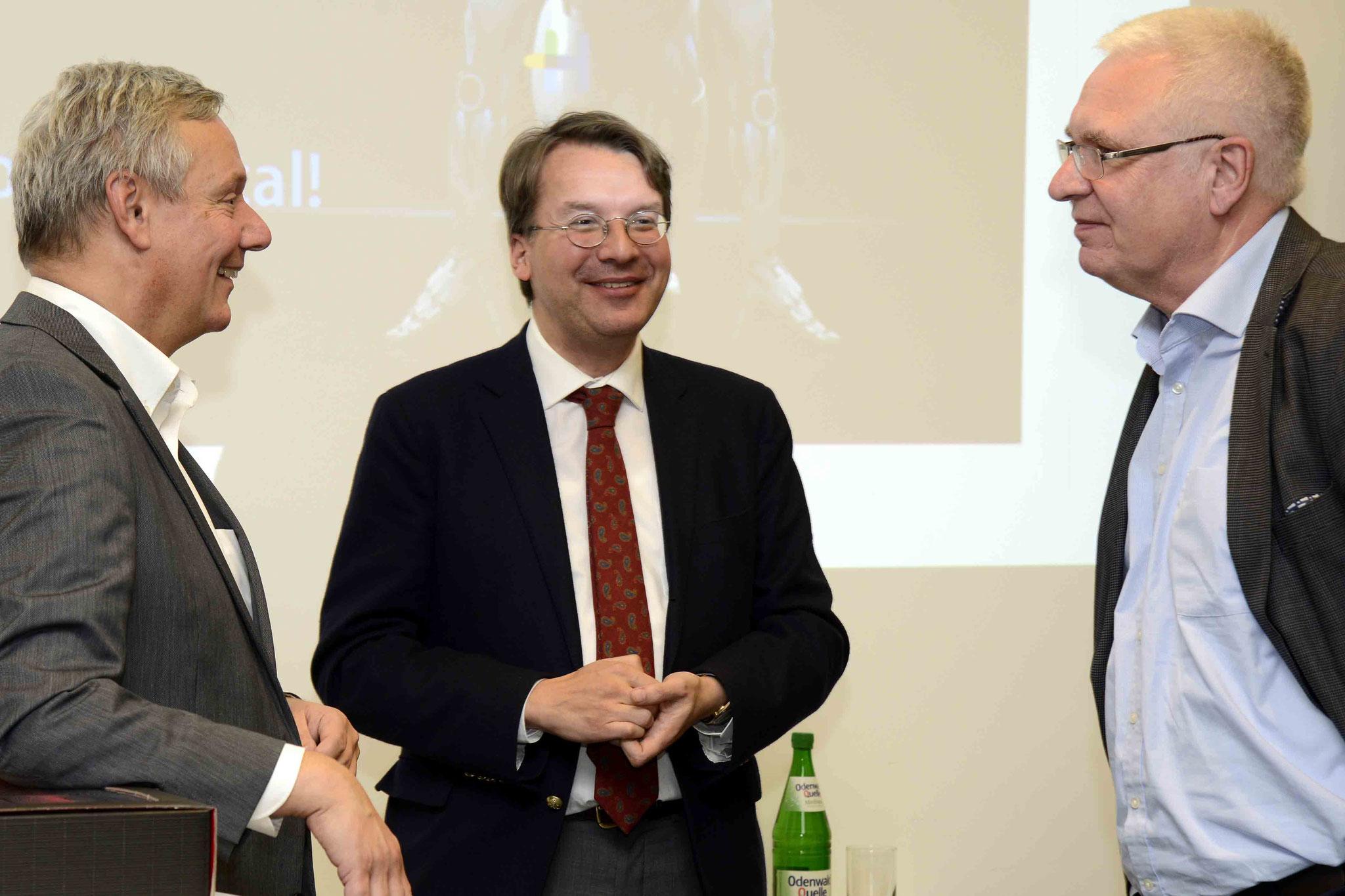 Prof. Dr. Felder, Dr. Gröpl, Pfr. Thomas Löffler (Leiter KDA -Kirchlicher Dienst in der Arbeitswelt- Nordbaden, Landeskirche Baden), Bild: Copyright by Helmut G. Roos