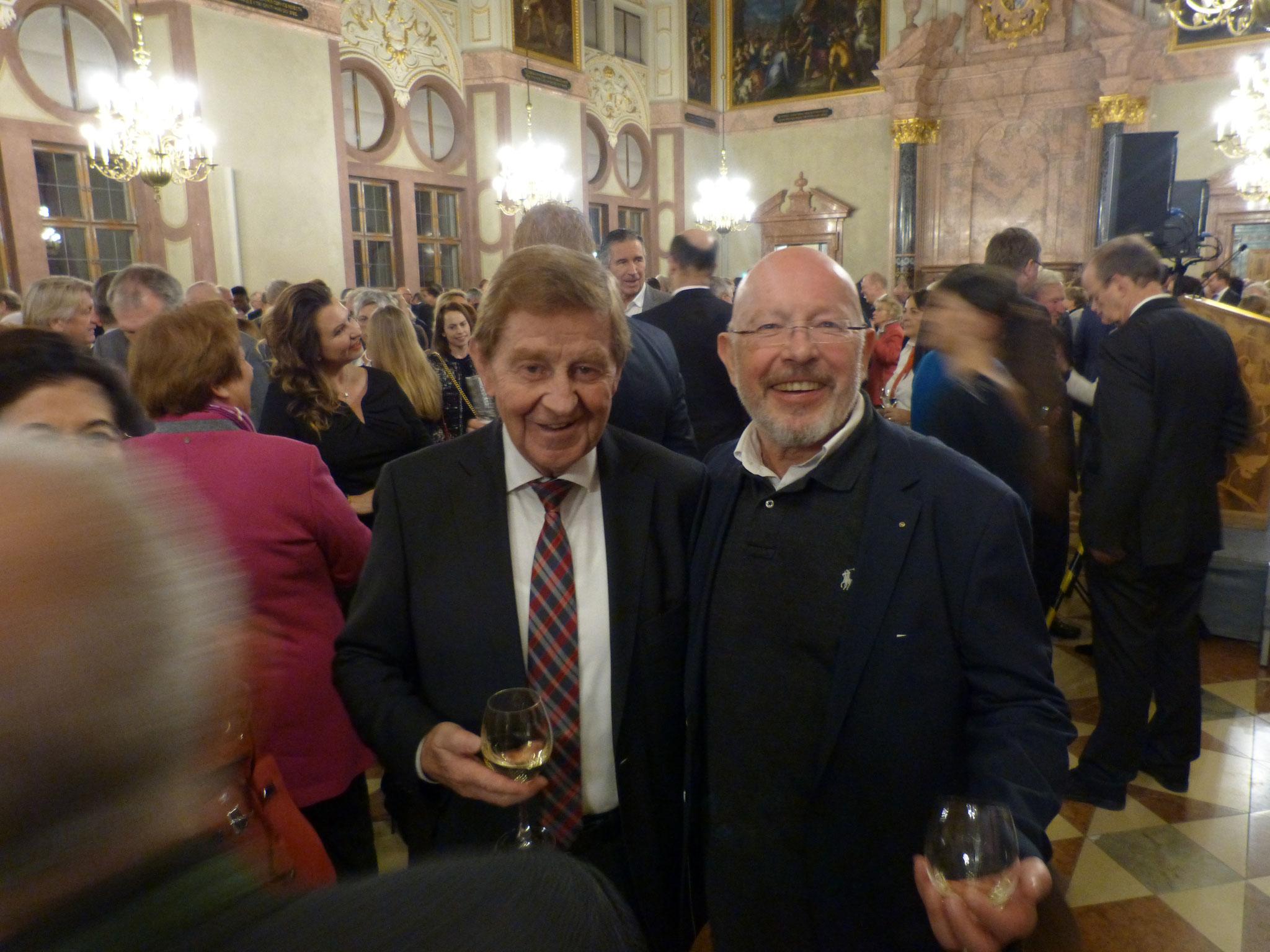 BRSI Vorstand Dr. Dieter Körner mit dem ehemaligen Generalsekretär der CSU Otto Wiesheu