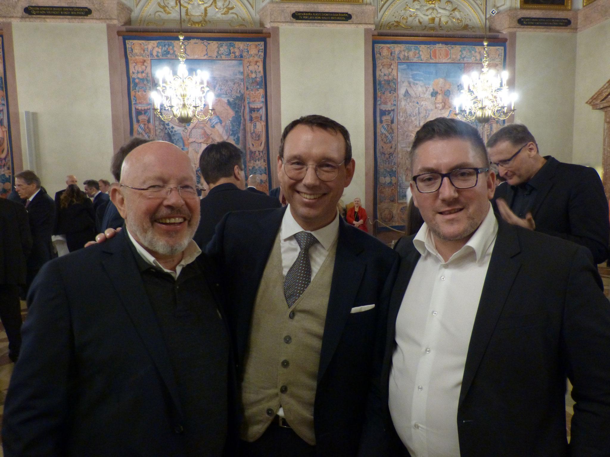 Dr. Dieter Körner mit Herrn Hans Hammer und dem Asienexperten des BRSI Till Suplika
