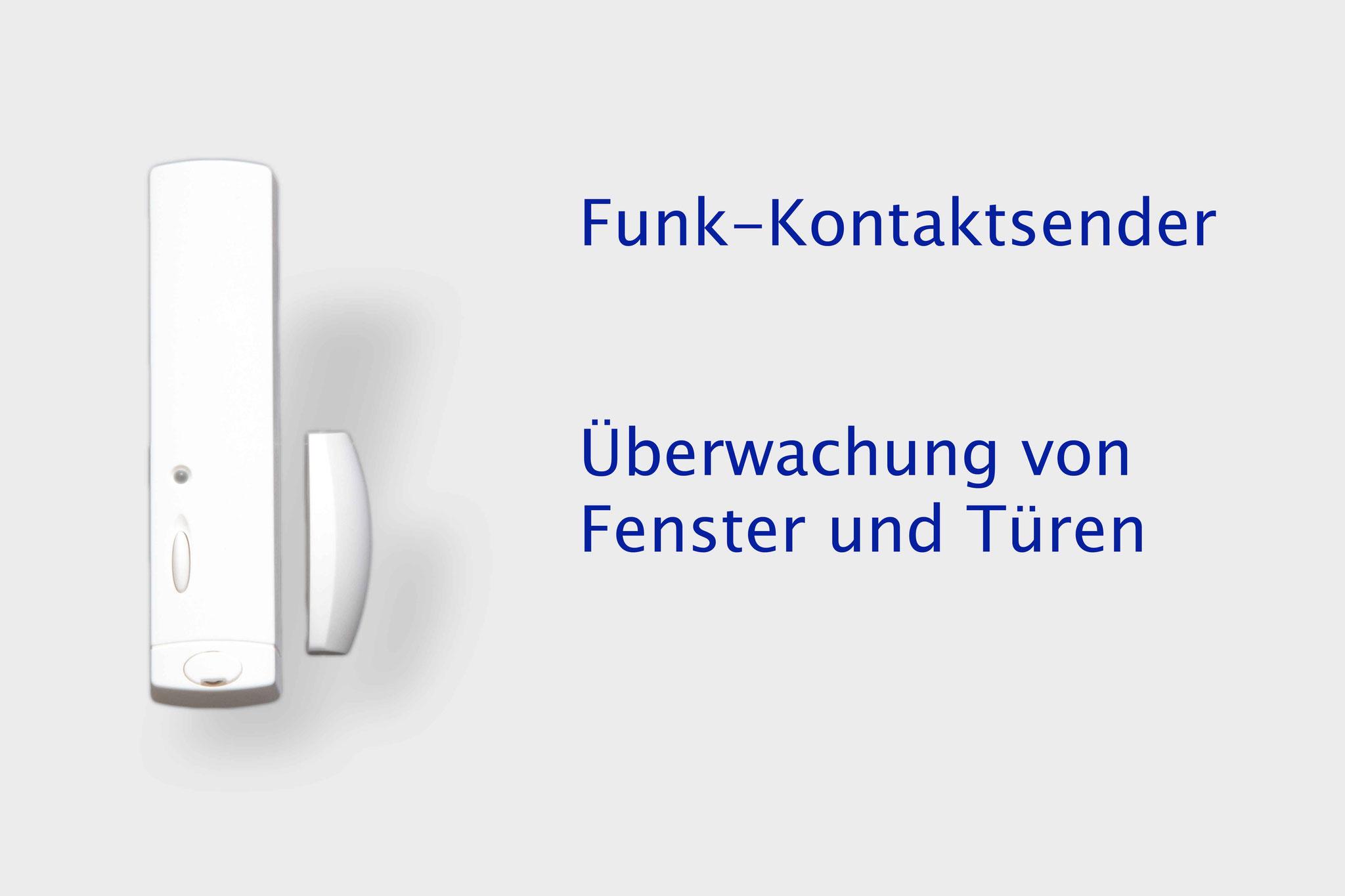 Funk Kontaktsender überwachen Fenster und Türen