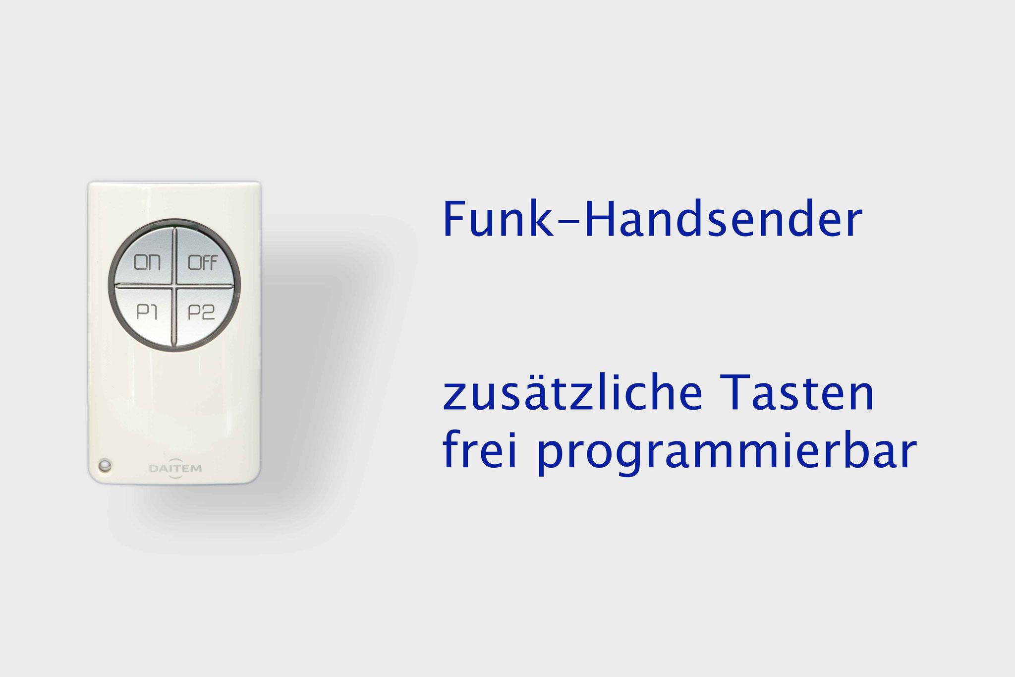 Funk Handsender 2 frei programmierbaren Tasten