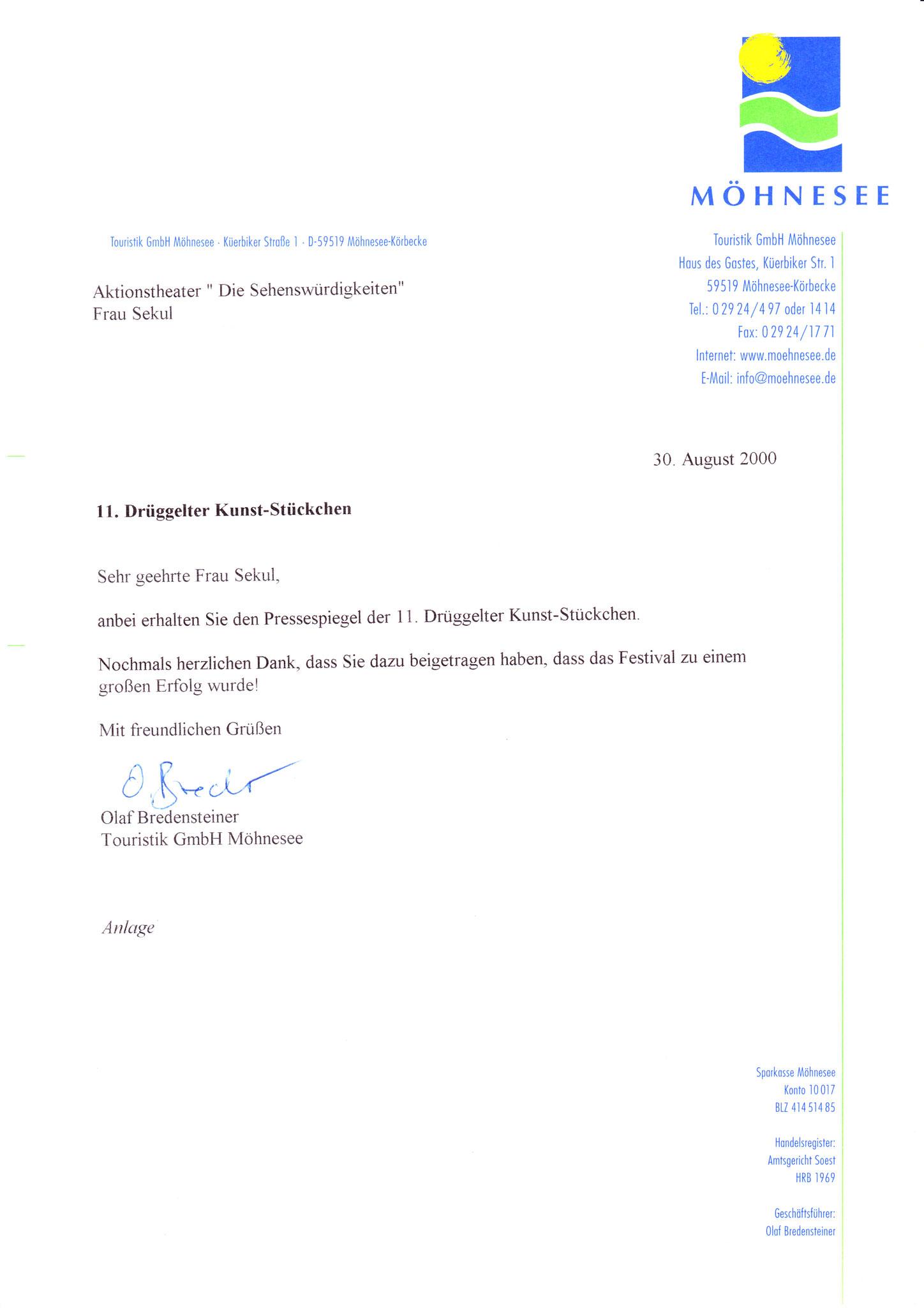 Touristik GmbH Möhnesee