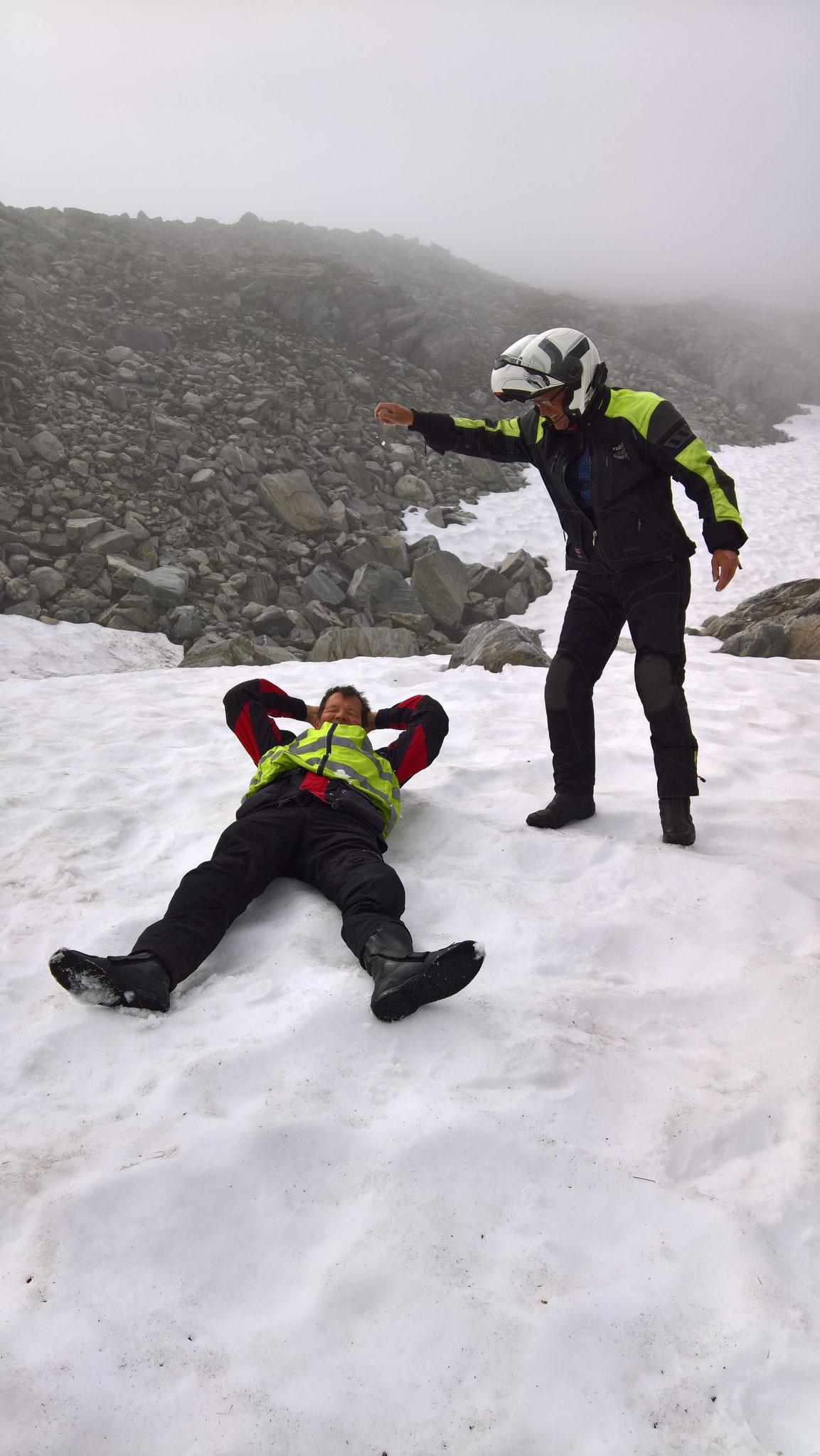 Schneebad im Strynefjellet