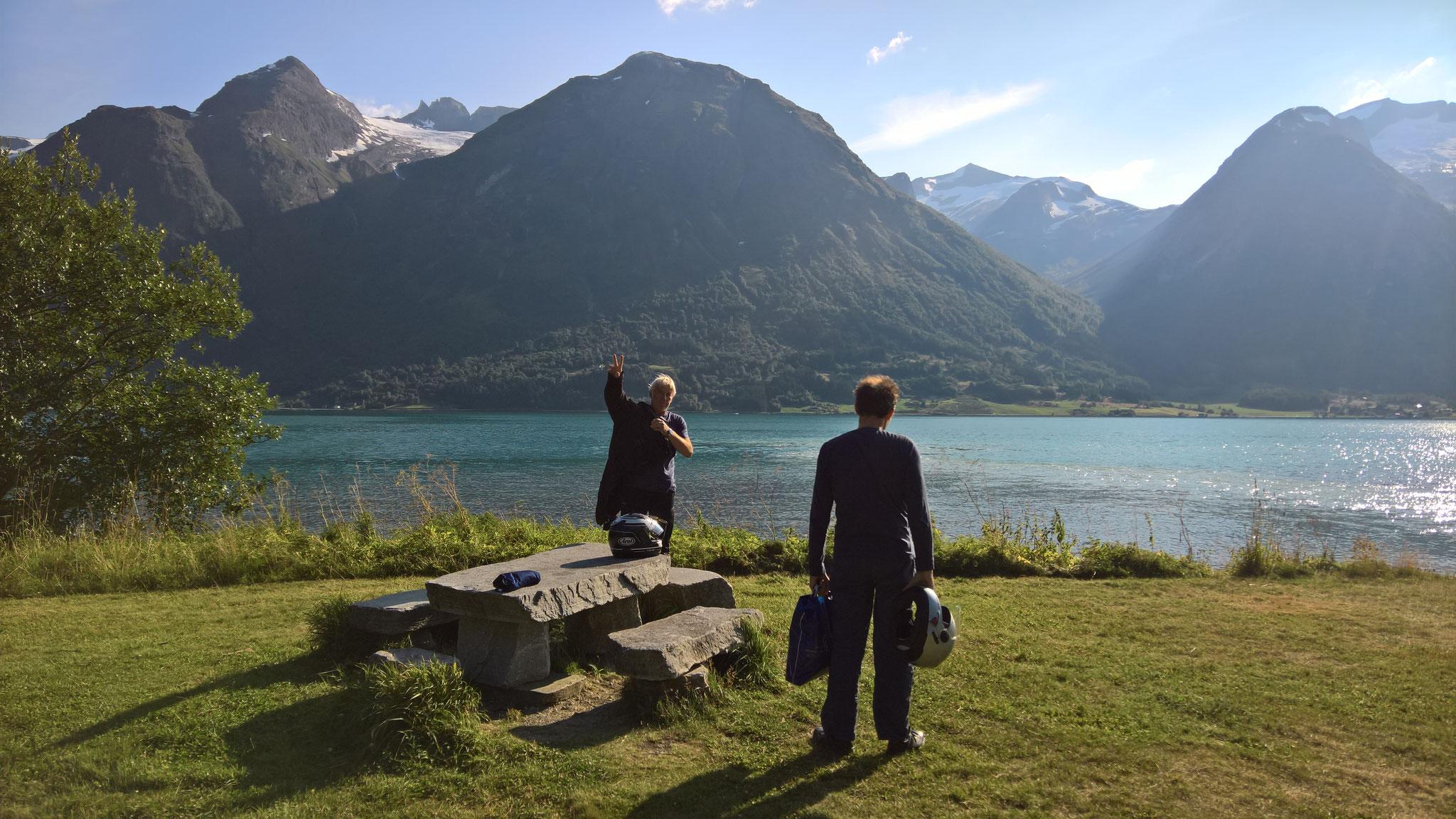 """unser BADEsee bei Hjelle mit dem """"heißen Stein"""""""