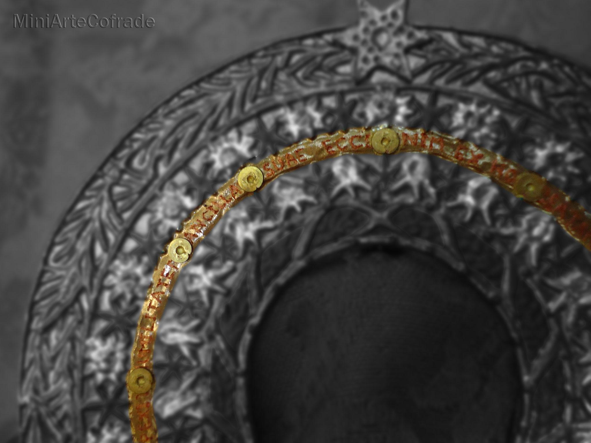 Diadema Soledad Arganda 2 (detalle). Para Virgen de 25 cm