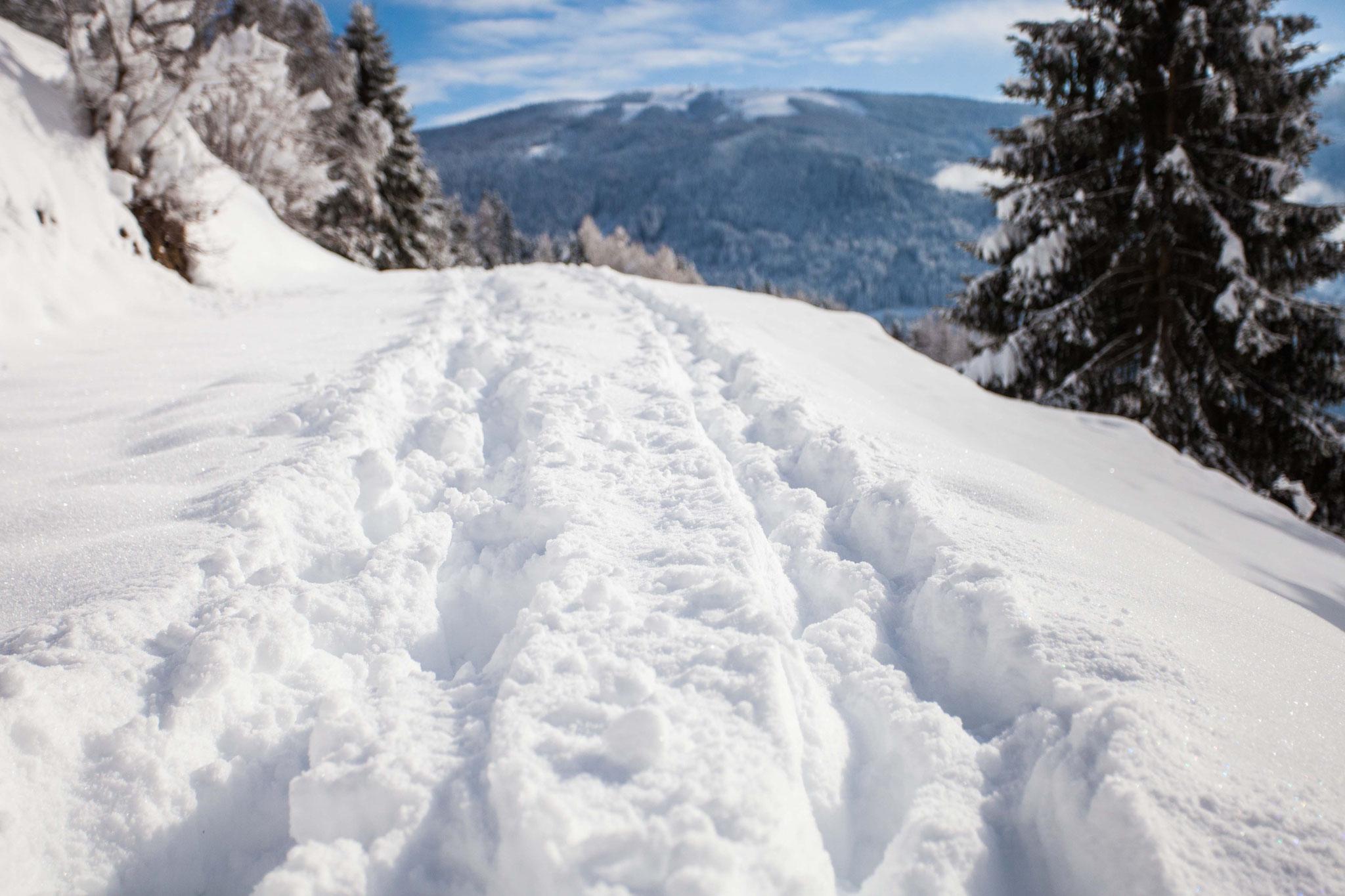Winterwandern richtung Gerlitze