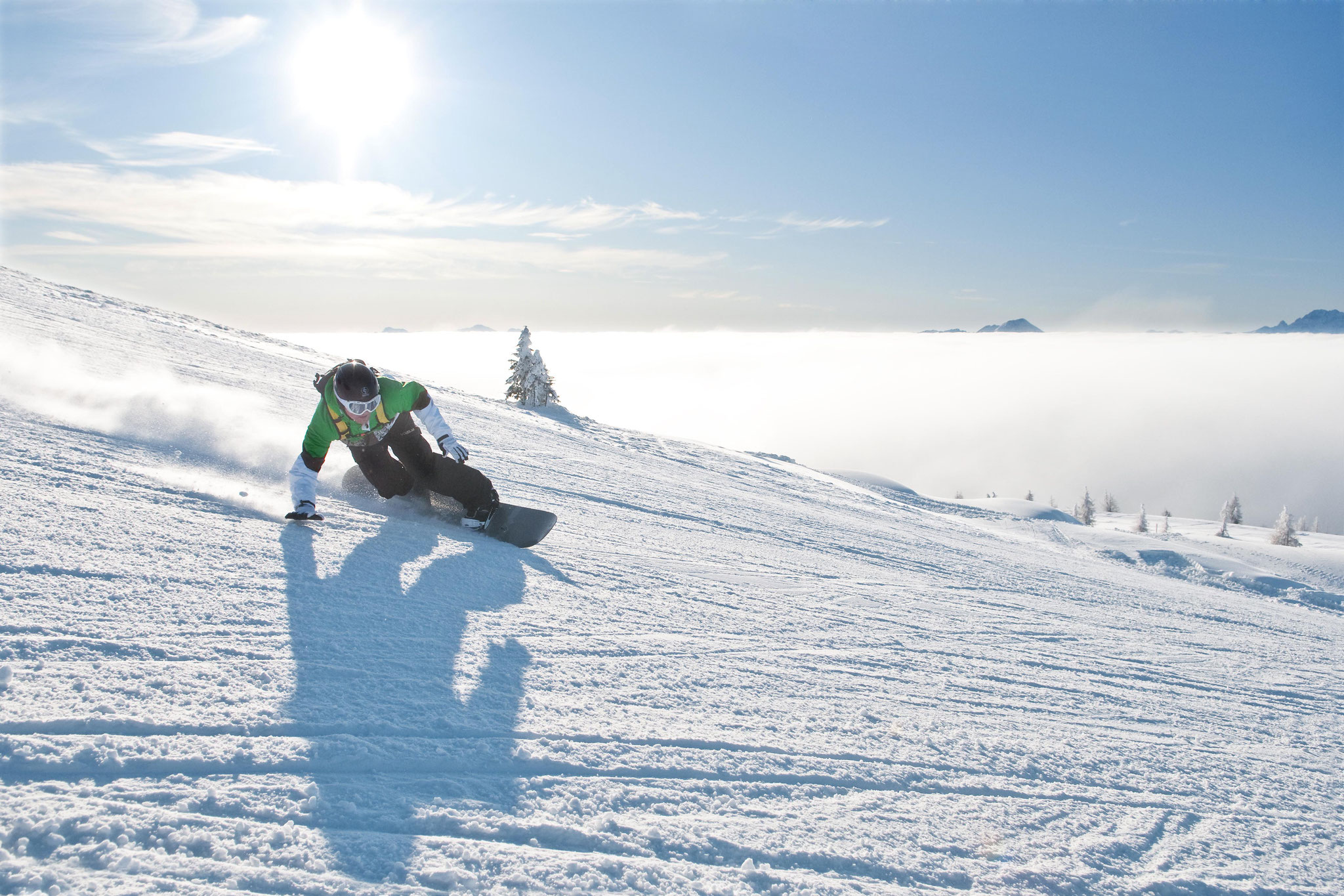 Snowboarden auf der Gerlitze