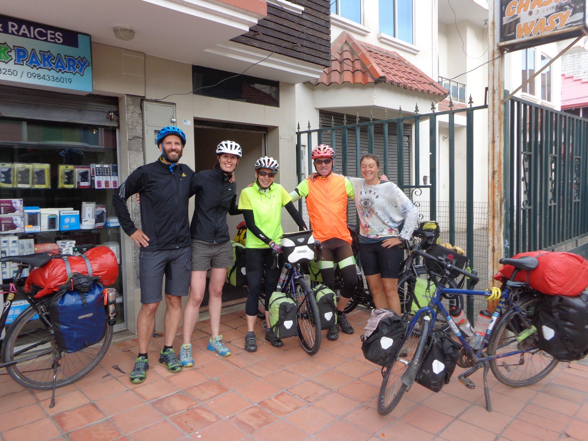 Rencontre avec un autre couple de cyclistes australiens