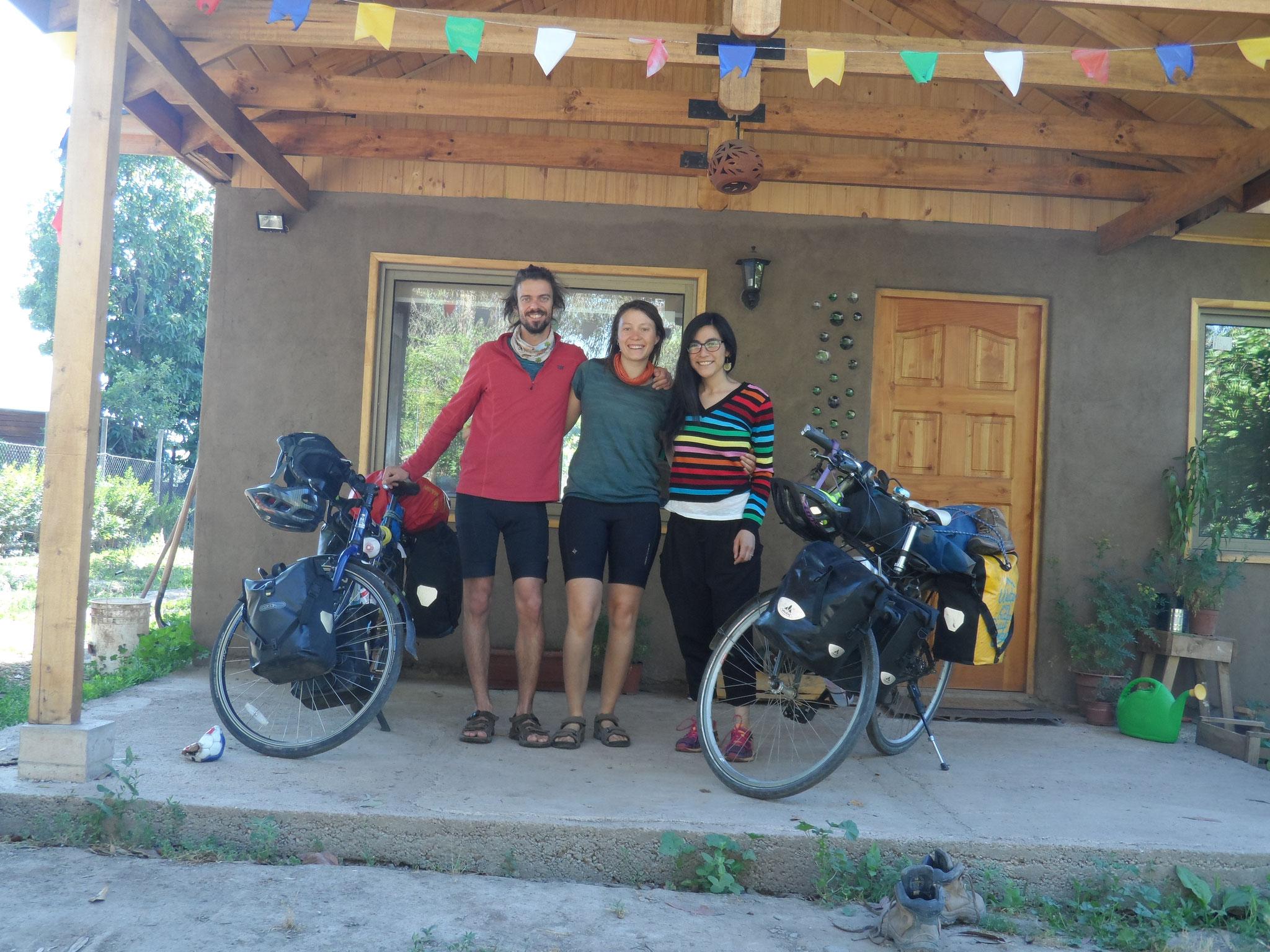 1ere soirée chez des warmshower, Alexi et Paulina, à Paine