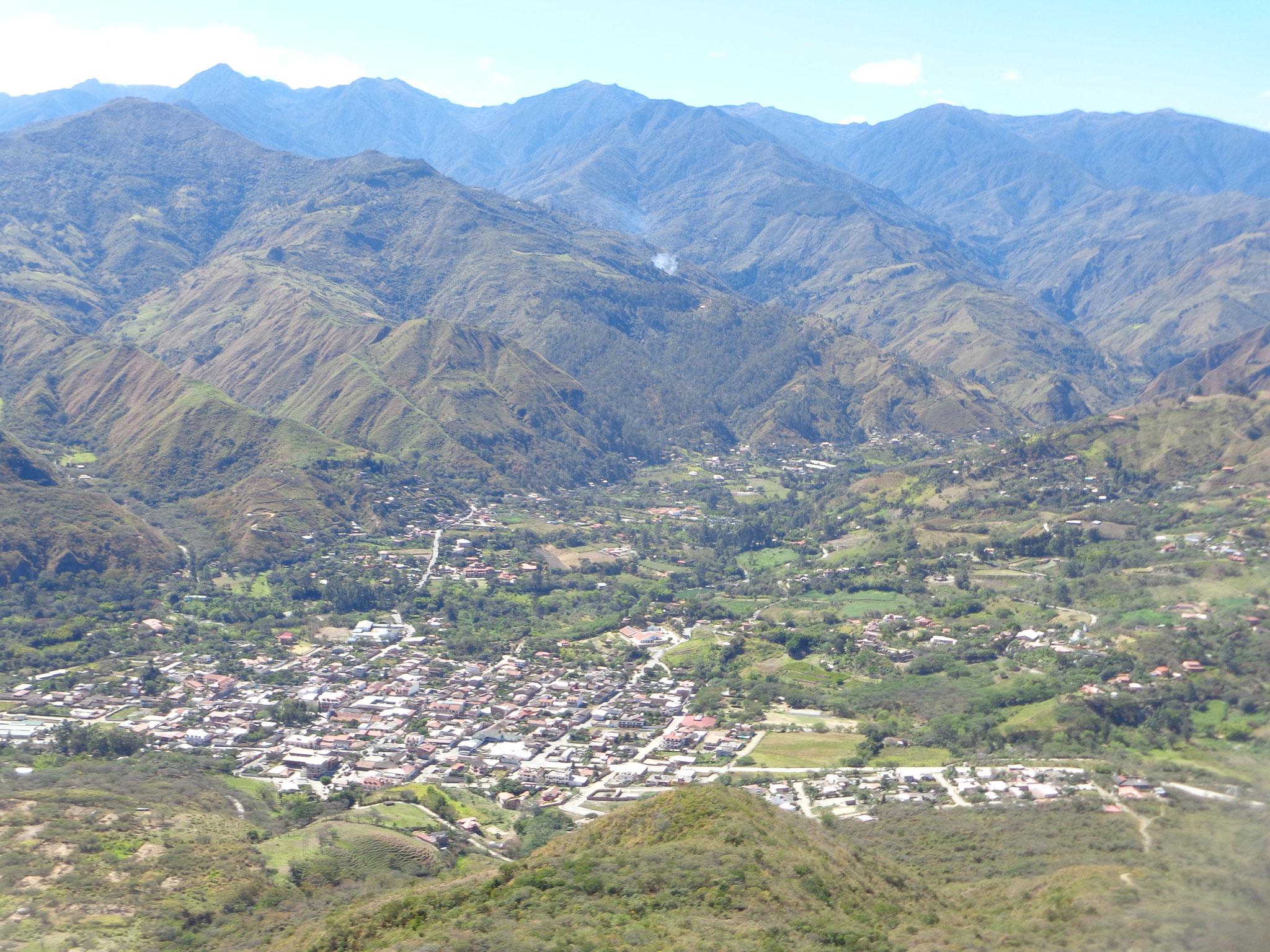 Vilcabamba vue de haut
