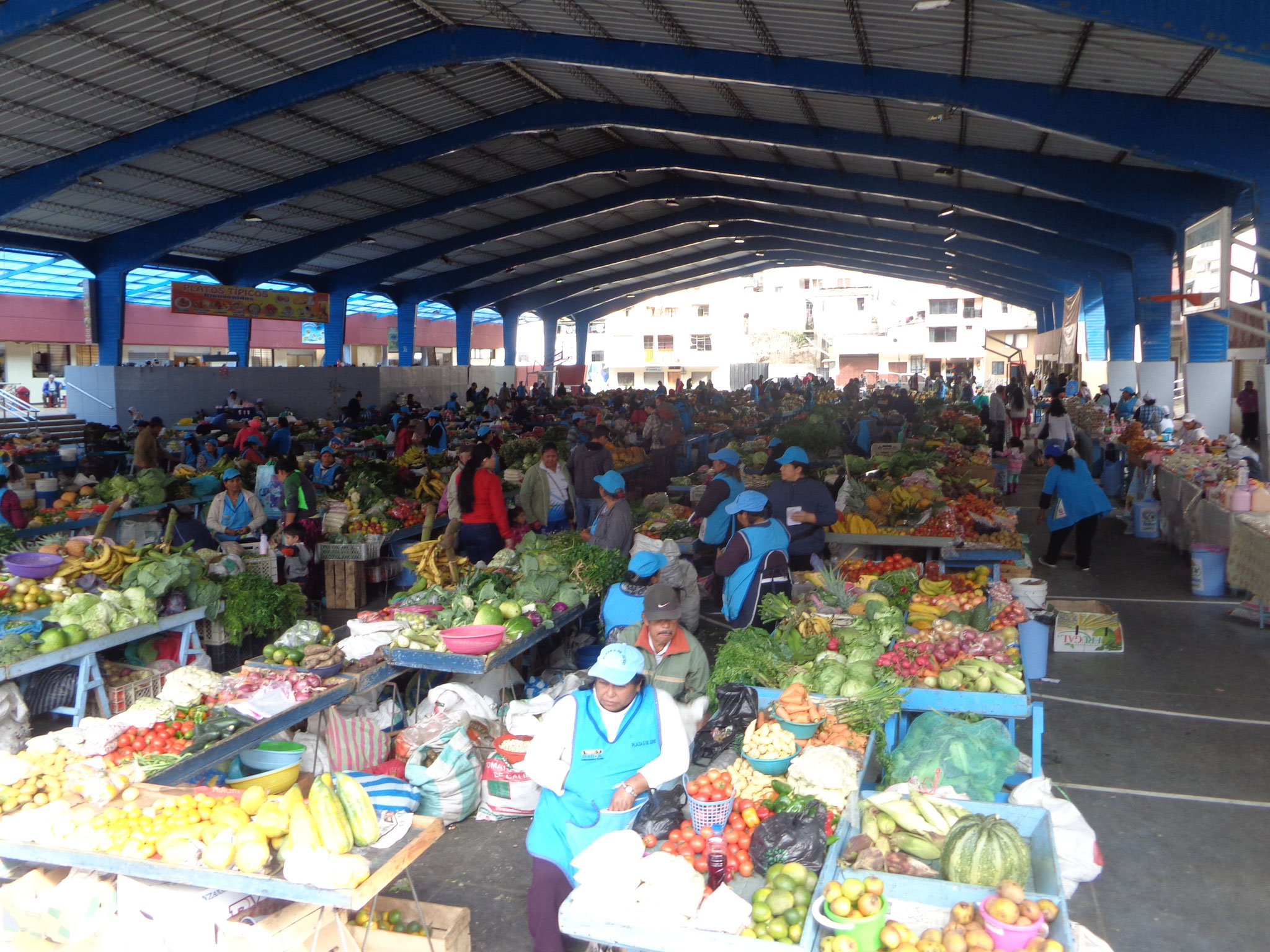 Le marché de Banos