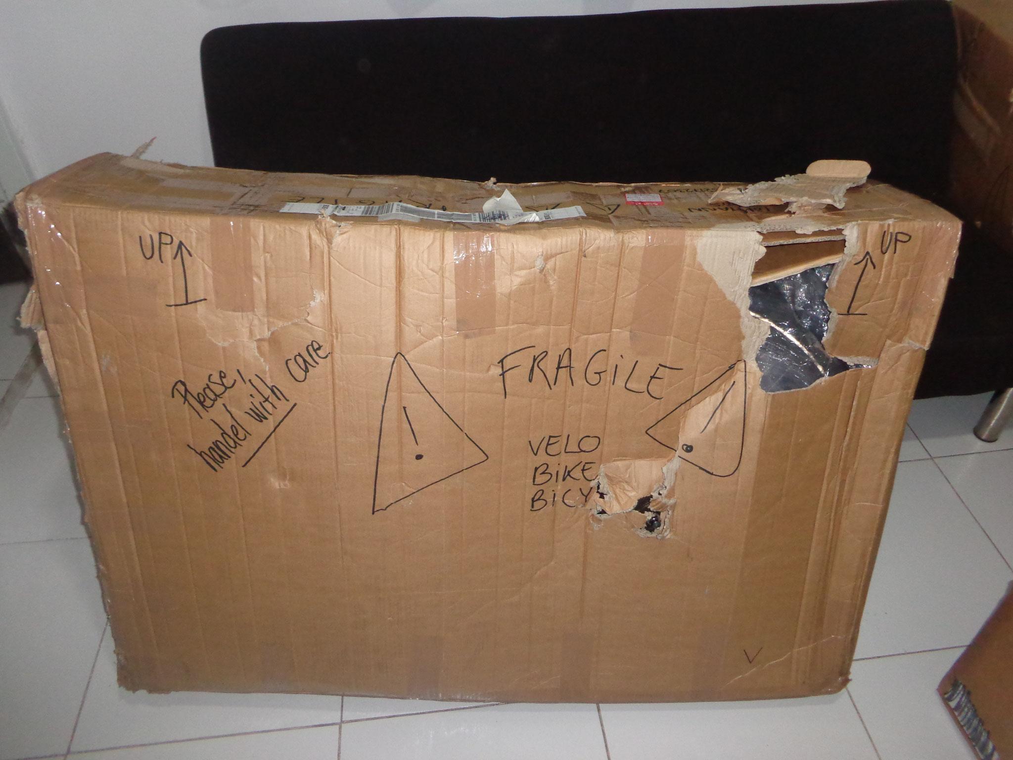 l'arrivee des cartons...