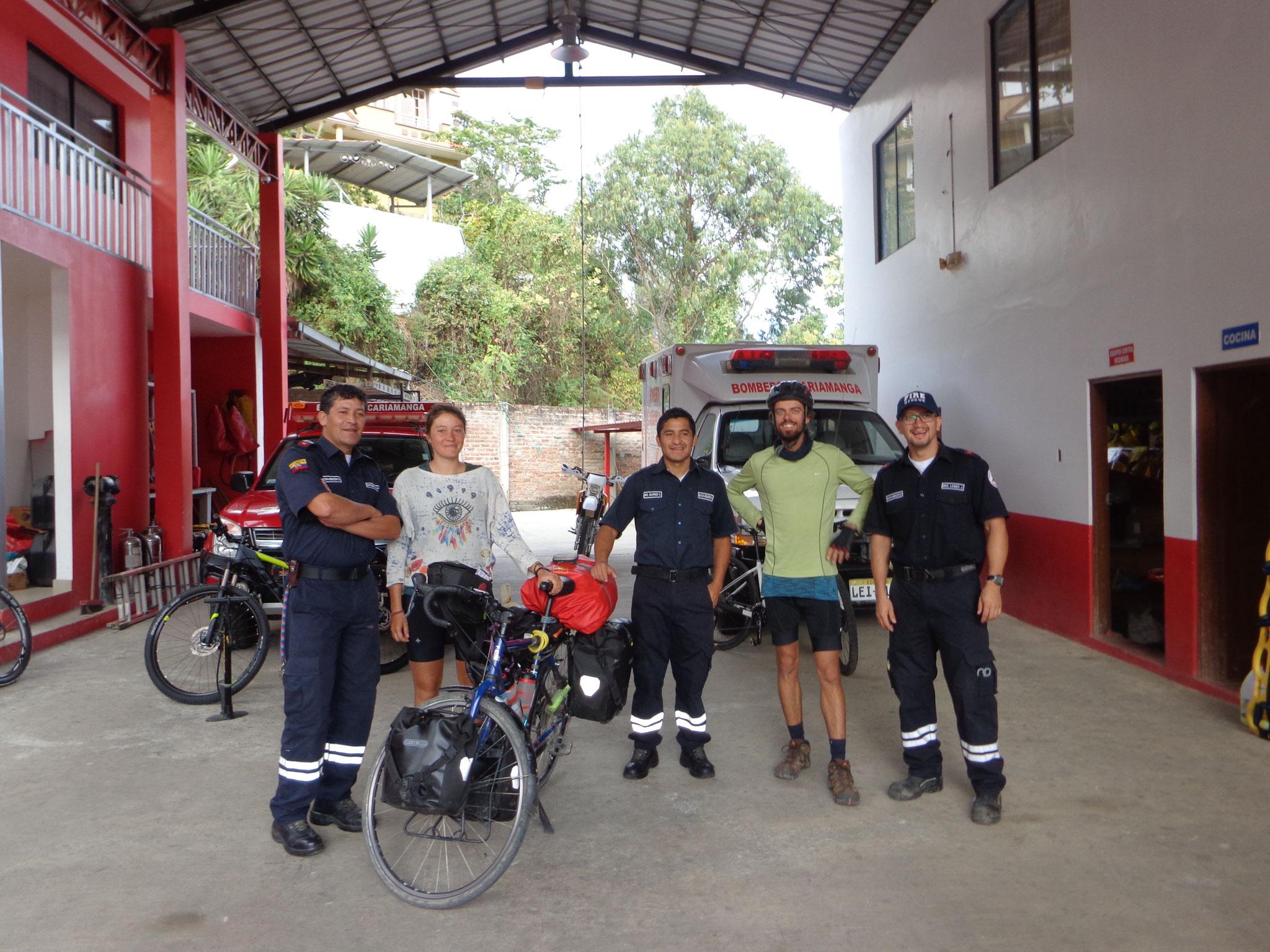 merci les pompiers pour l'hospitalite!