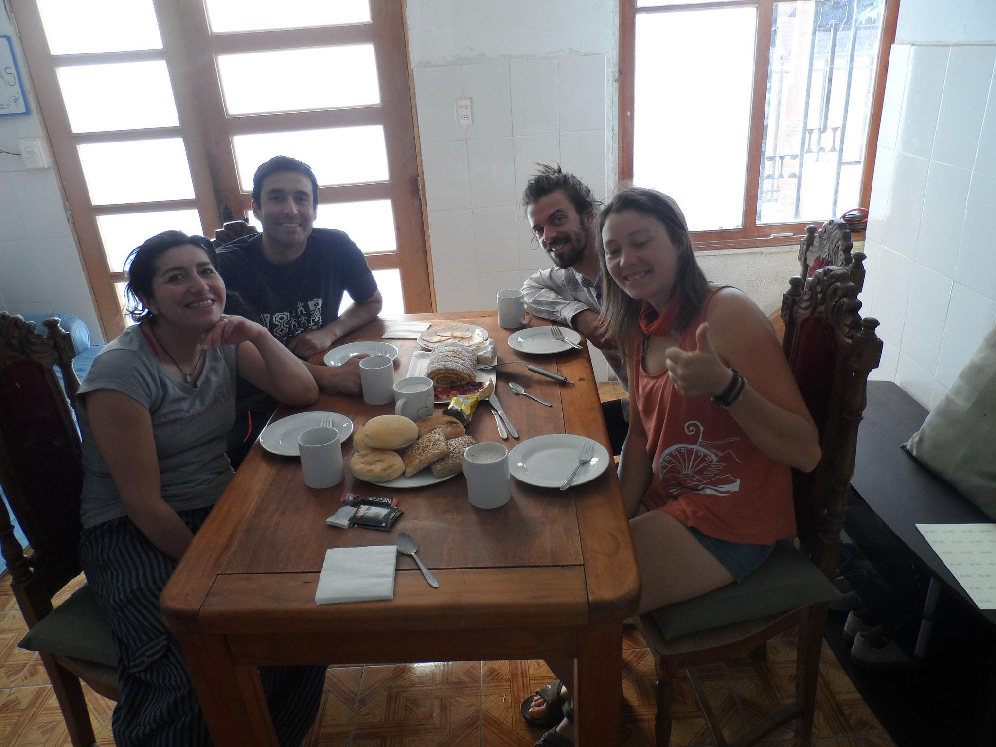 chez nos 2e warmshower à Requinoa, Felipe et Jenny