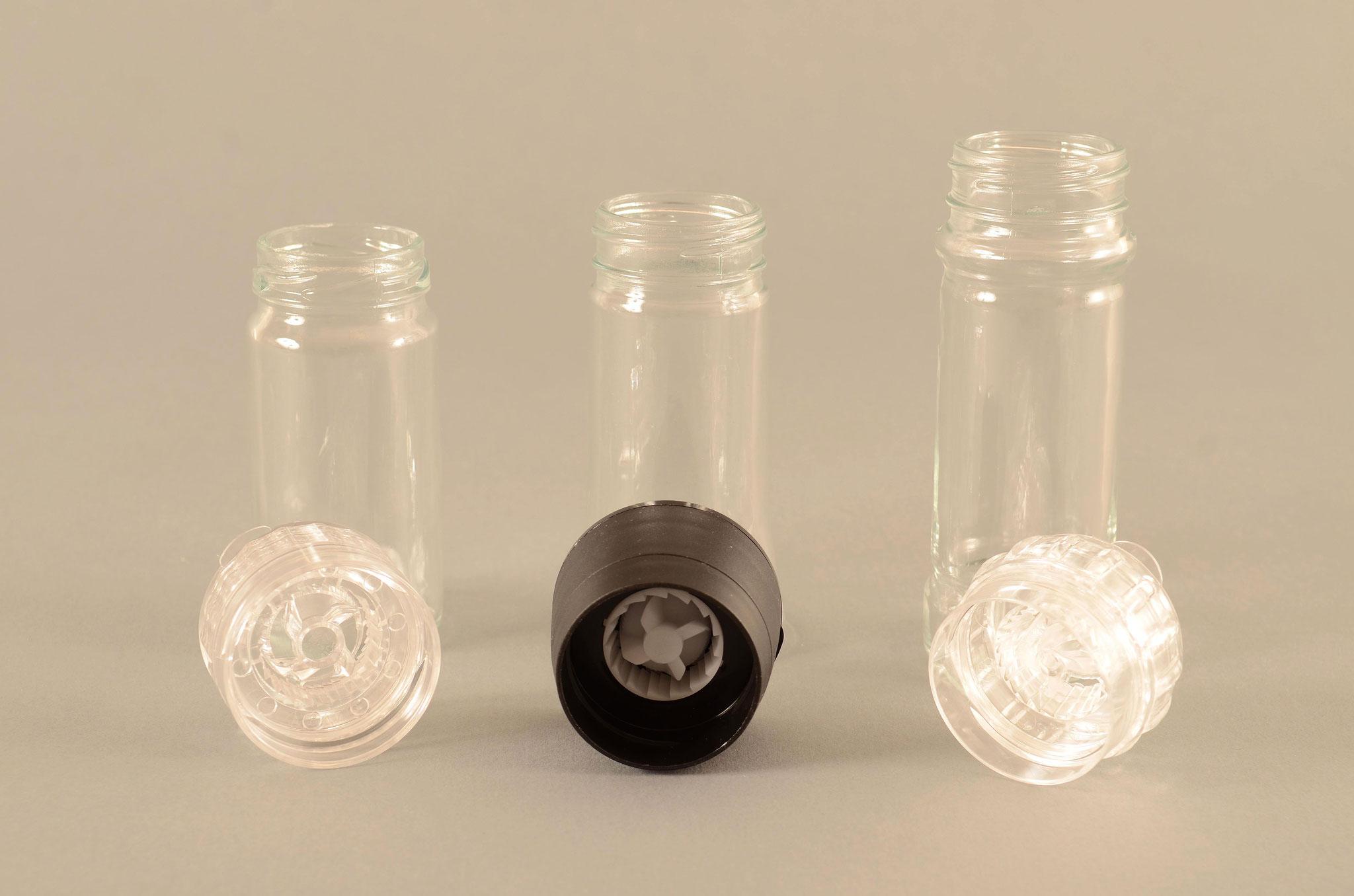 Aus dem TREFFPACK Sortiment - Gläser und Mahlwerke
