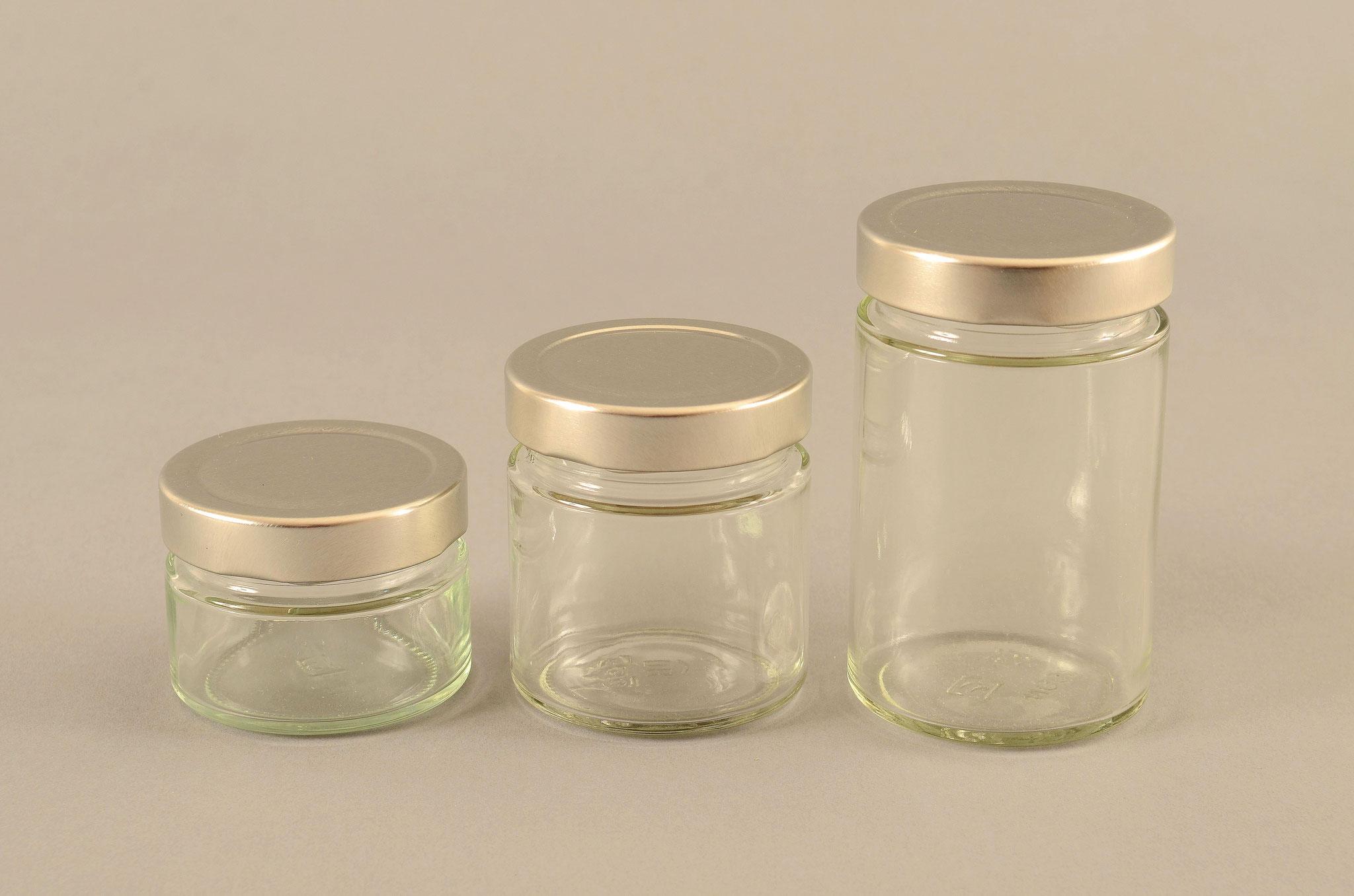 Aus dem TREFFPACK Sortiment -Rundes Marmeladen Glas