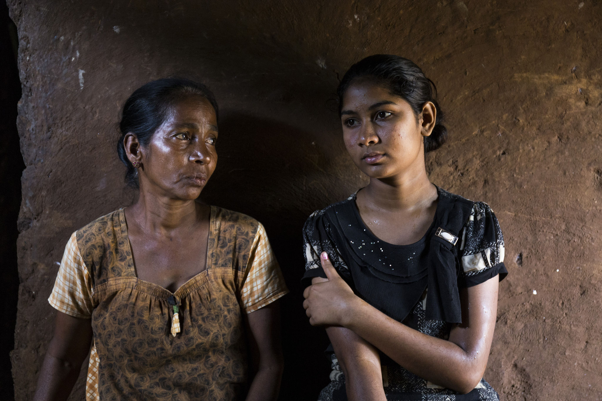 Annalaxmi mit ihrer Tochter. Vavuniya 2018