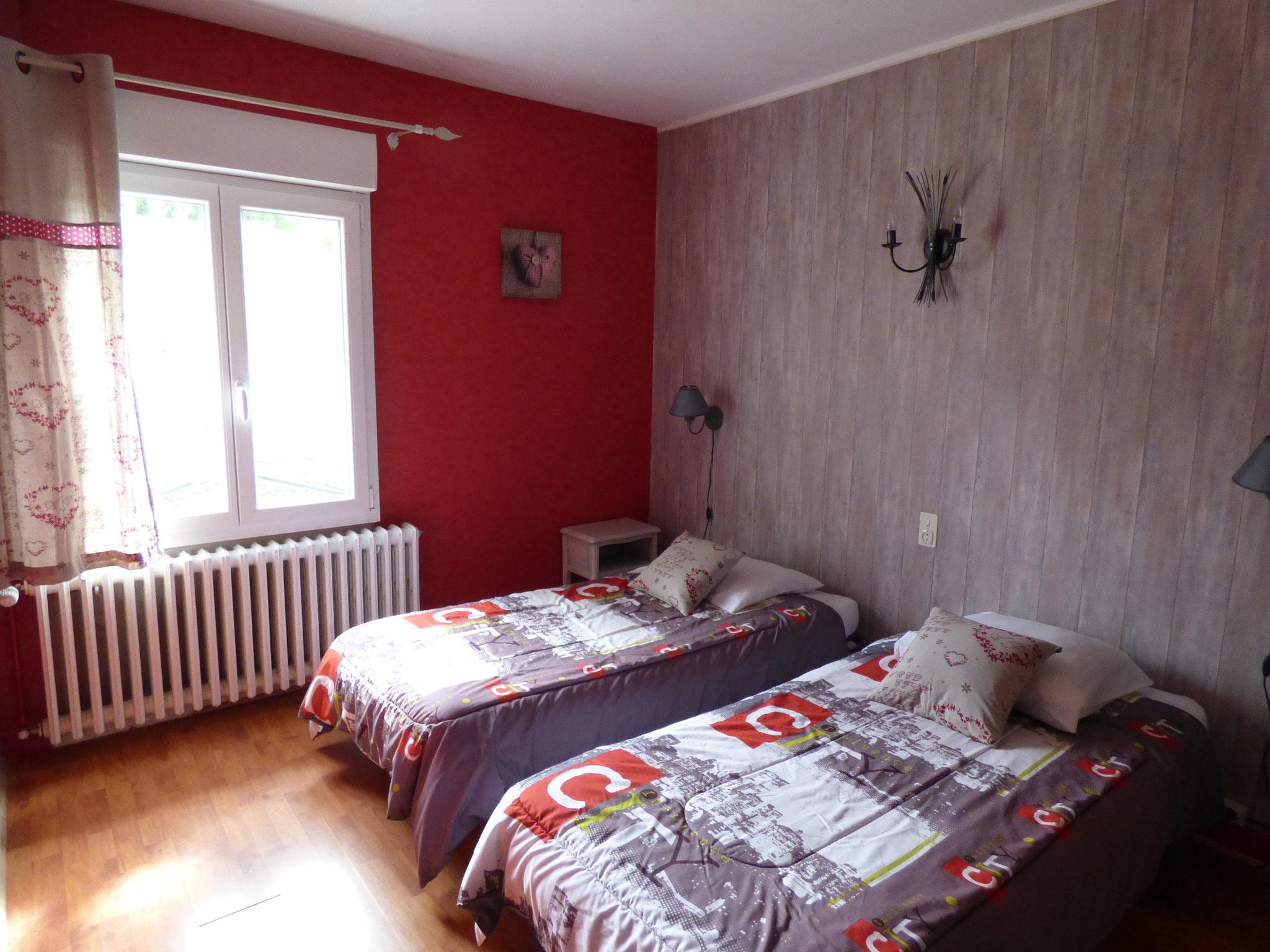 Chambre 2 lits simples 15 m²   Actuellement