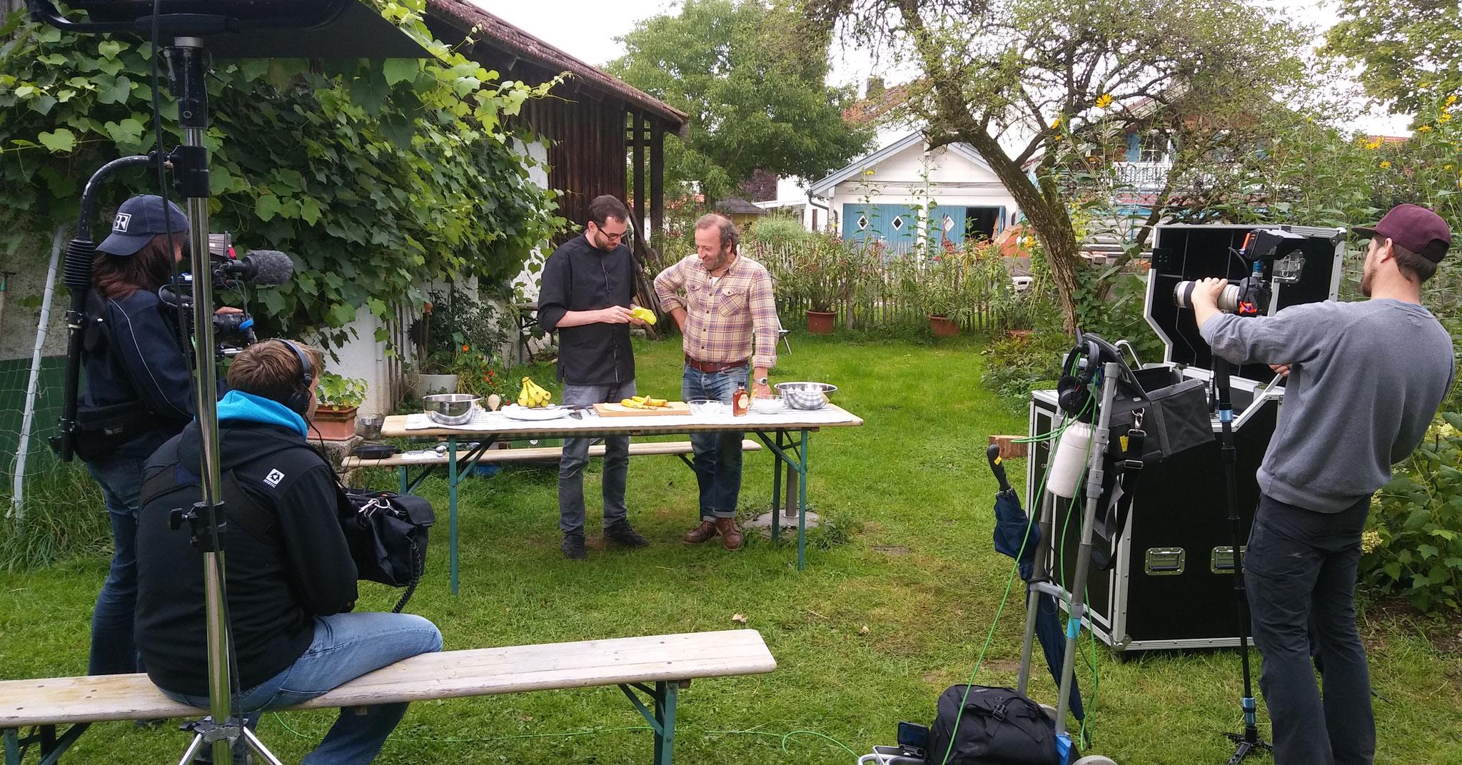 Schmidt Max und ich kochen gemeinsam in seiner Sendung Leaf to Root