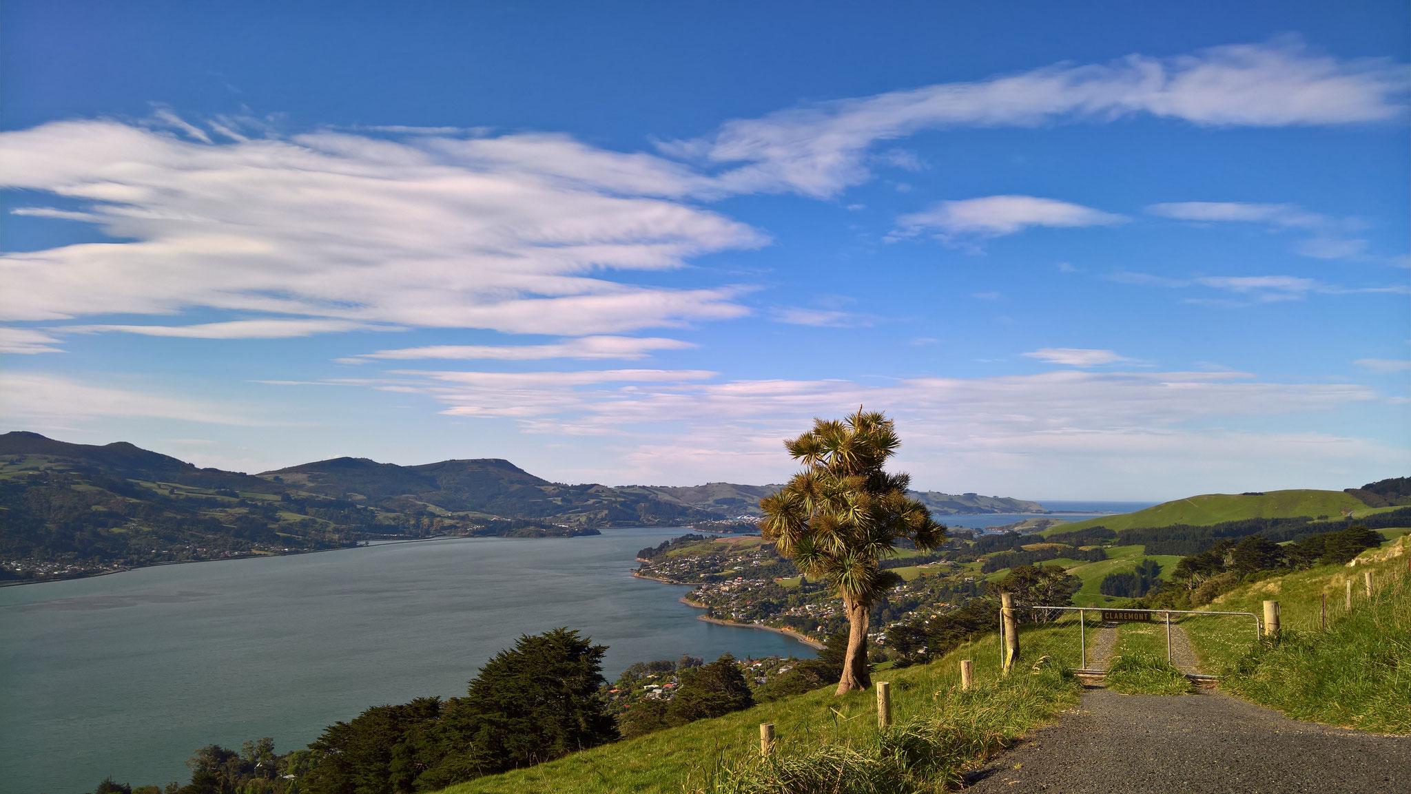 Vue de l'Otago Peninsula