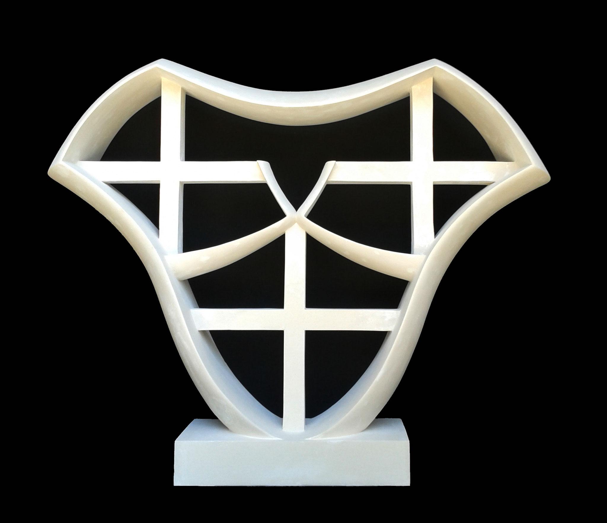 EVA. 2013. 80 x 100 x 19 cm. Plaster.