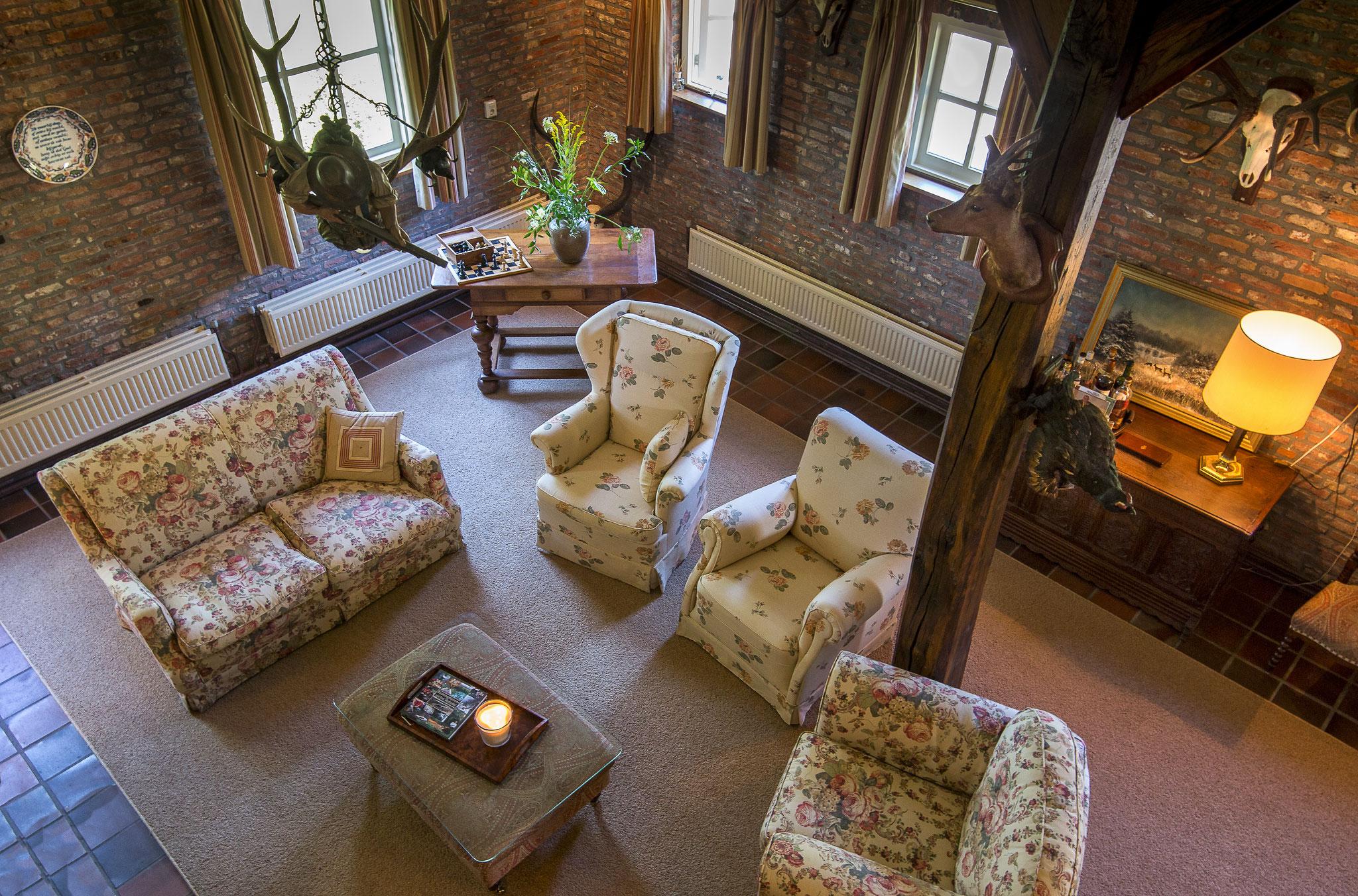 De 'Jachtkamer' gezien vanaf de vide.