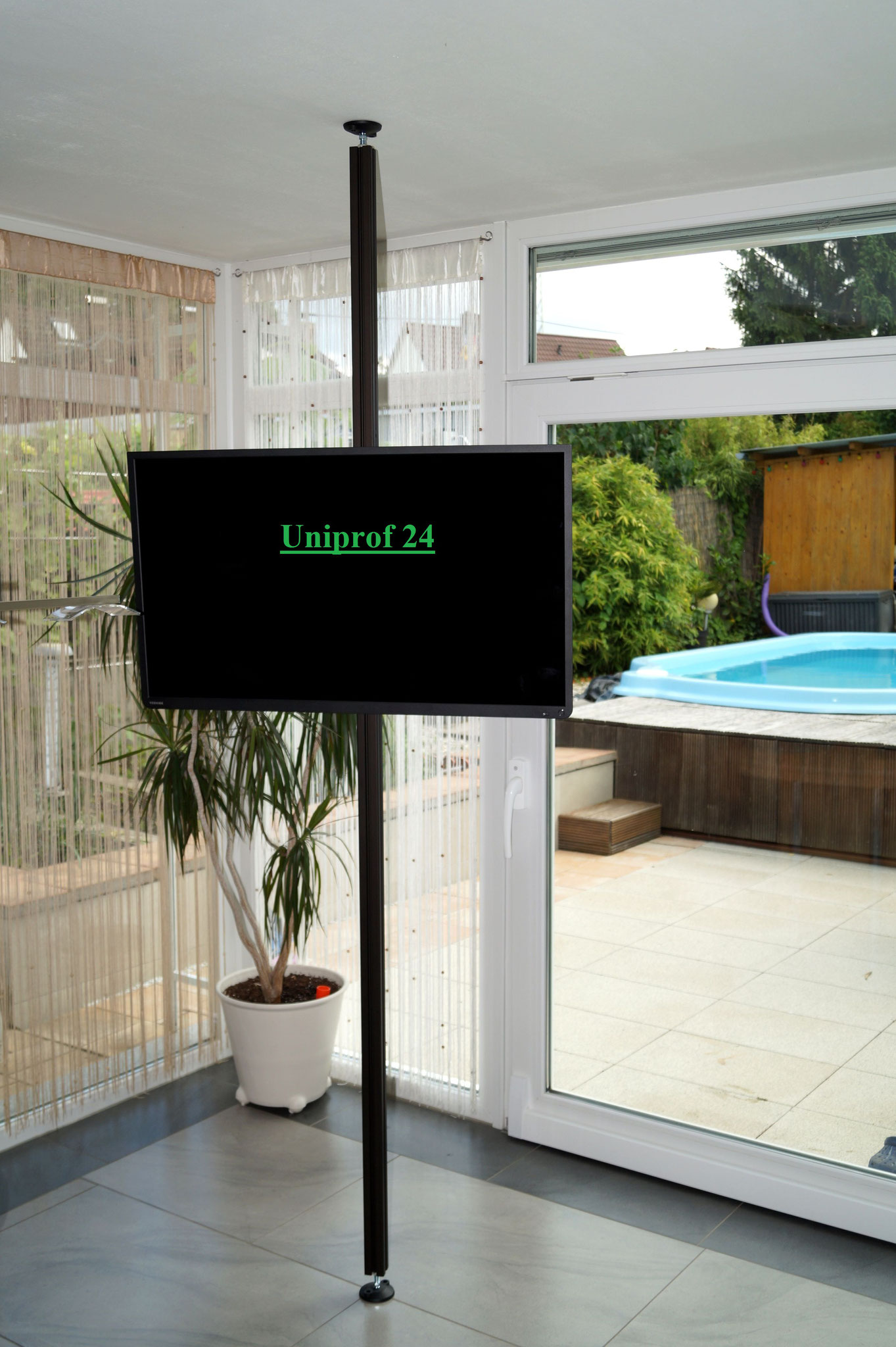 tv halterung decke uni prof 24. Black Bedroom Furniture Sets. Home Design Ideas