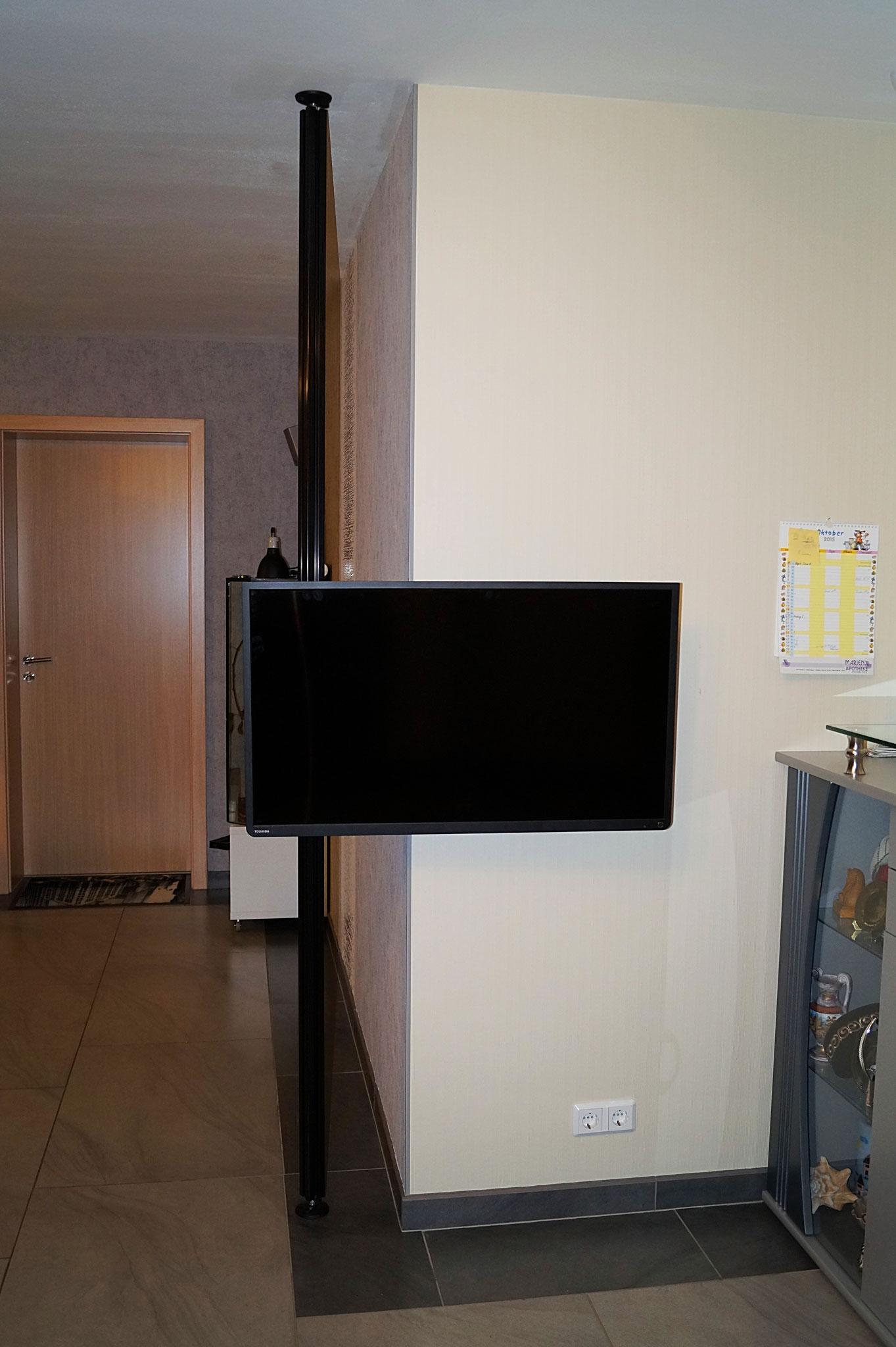 boden decken tv halterung stange uni prof 24. Black Bedroom Furniture Sets. Home Design Ideas