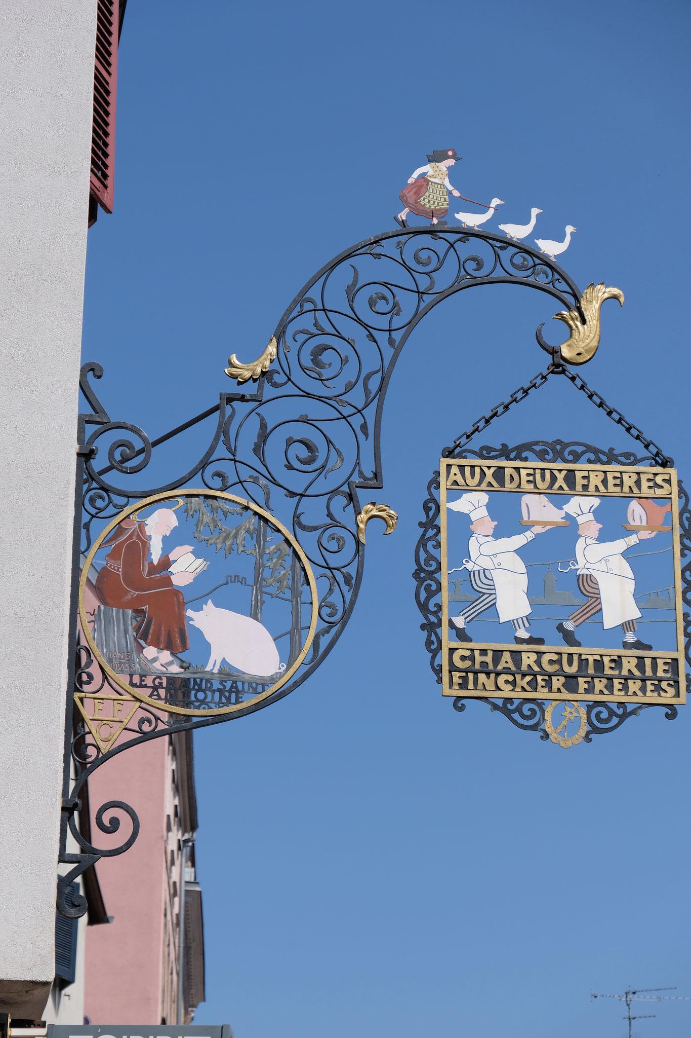 """Schild von """"Hansi"""" in Colmar"""