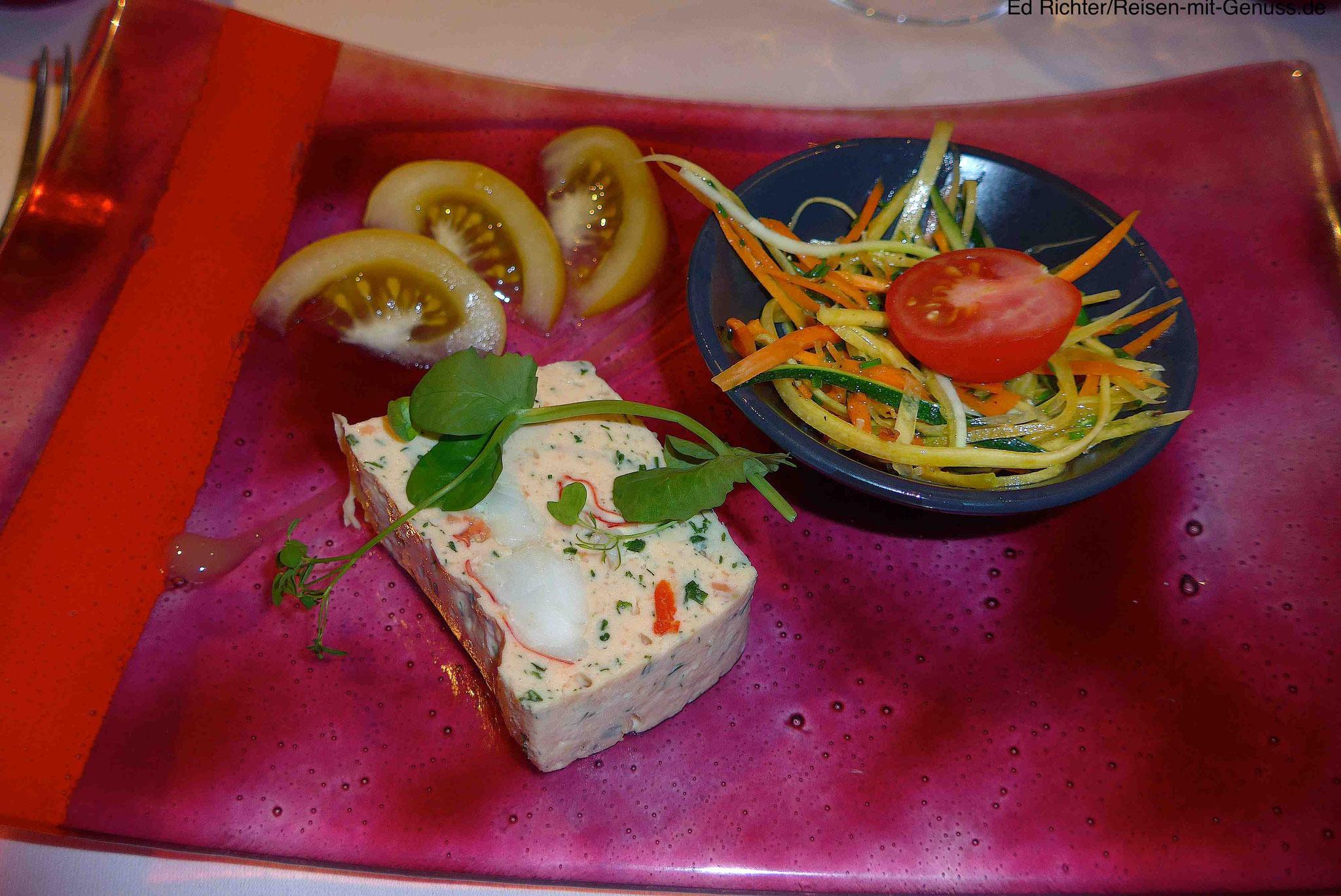 Köstliche Vorspeise im La Mignardise: Langusten-Terrine
