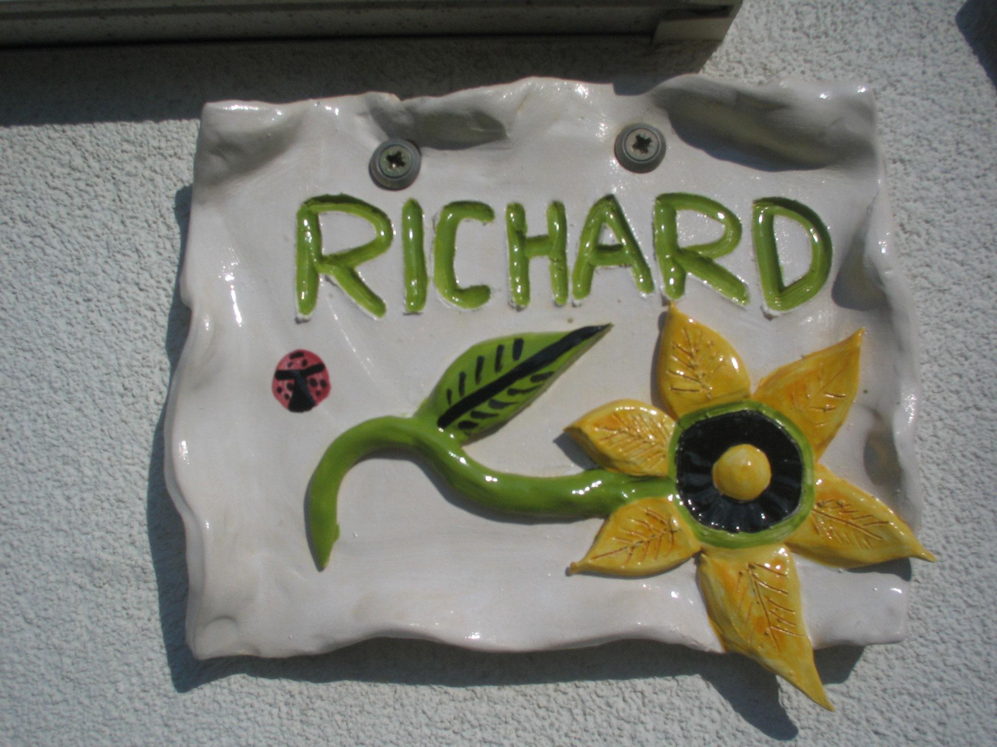 "Ton-Schild ""Be the flower"""