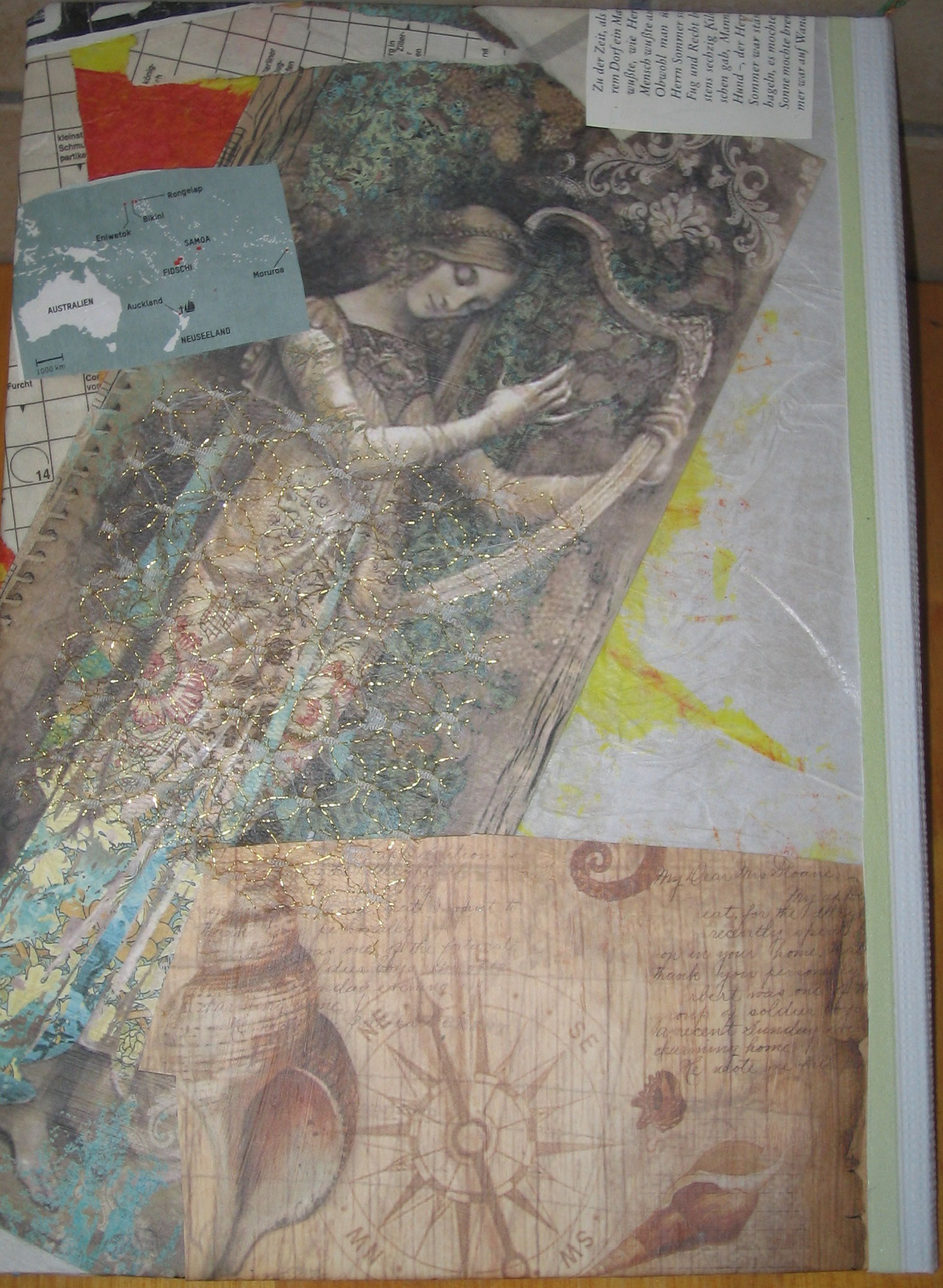 """Hardcover-Buch Collage """"Pray for angels"""""""