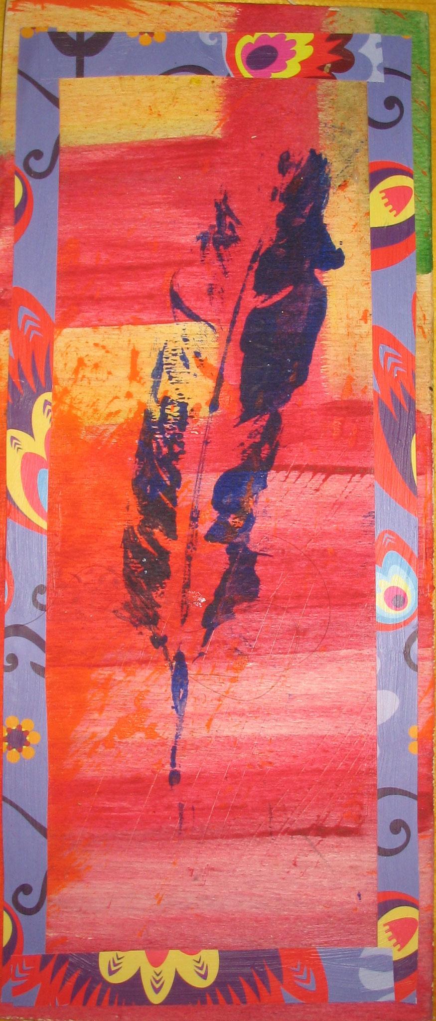 Indian summer (Collage auf Holz)