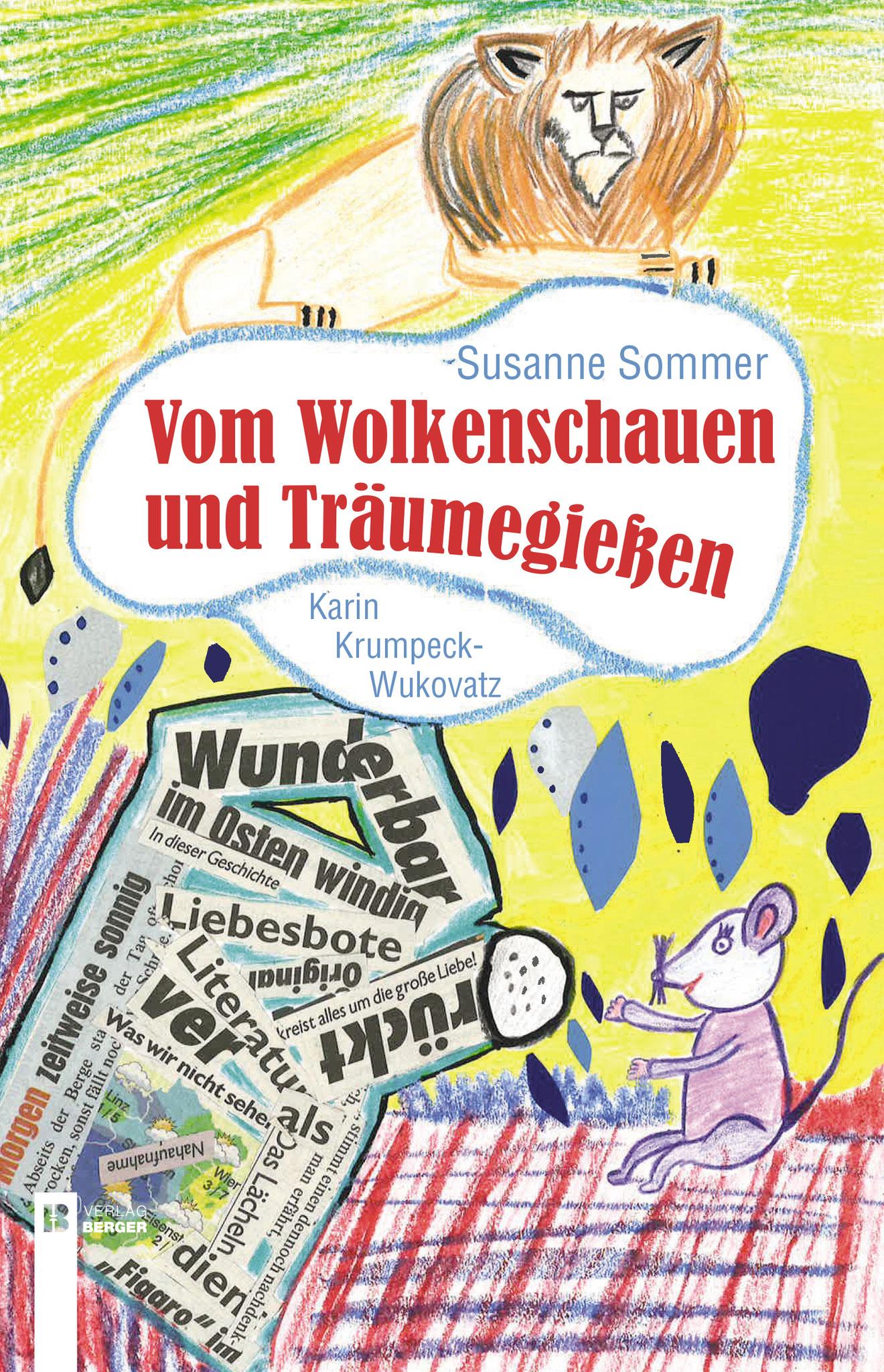 """Buch-Cover """"Vom Wolkenschauen"""" (Collage)"""