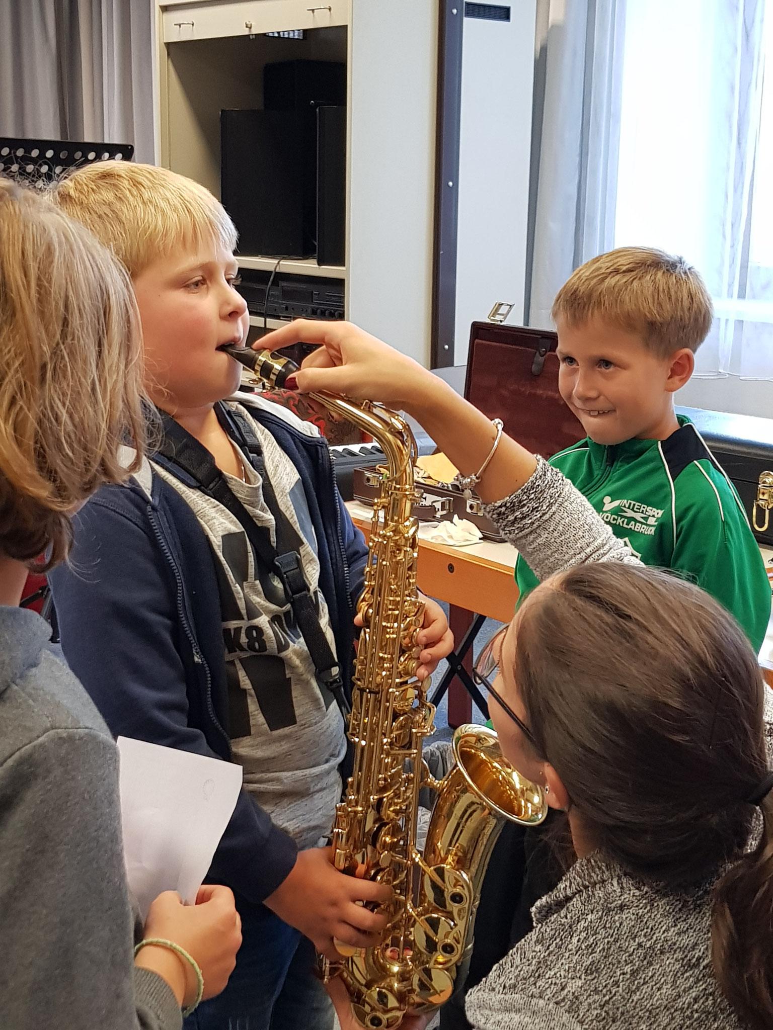 auch dem Saxophon kann man schöne Klänge entlocken