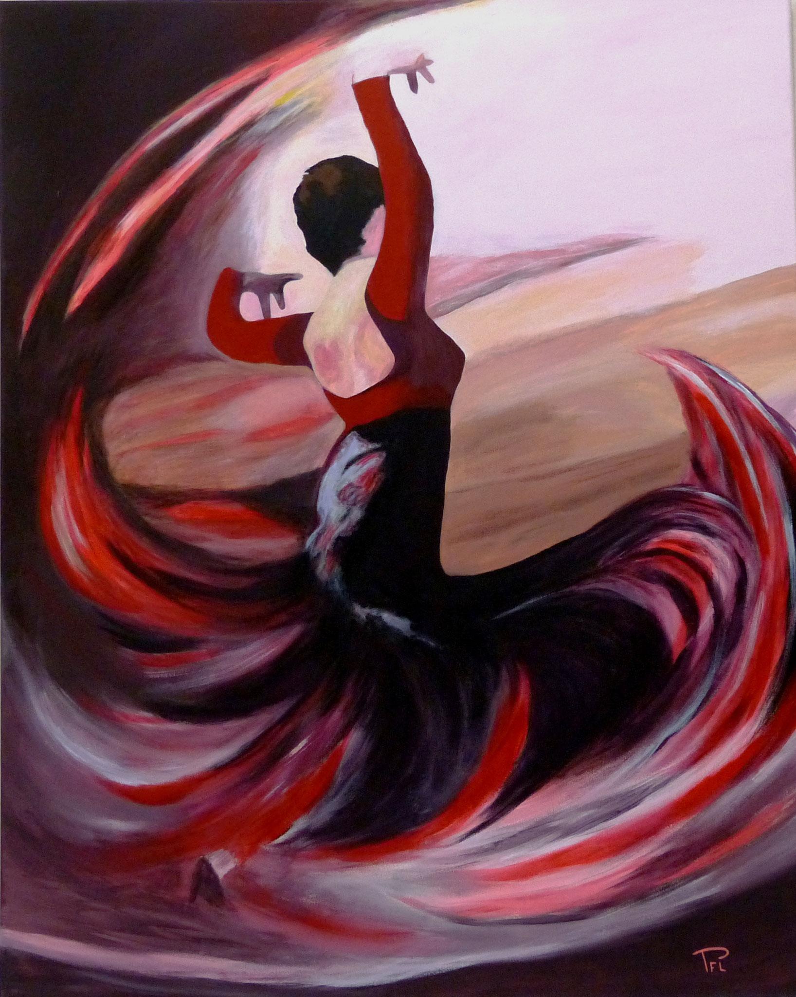 Bienvenue pfl frenchartist artiste peintre du sud ouest - Dessin danseuse de flamenco ...