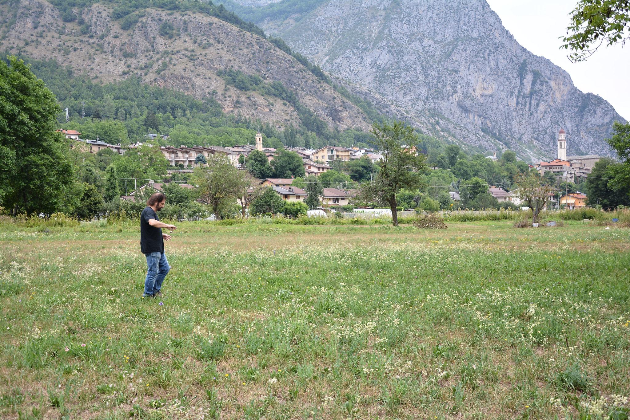 Maurizio Armanetti durante la ricerca Termale a Valdieri