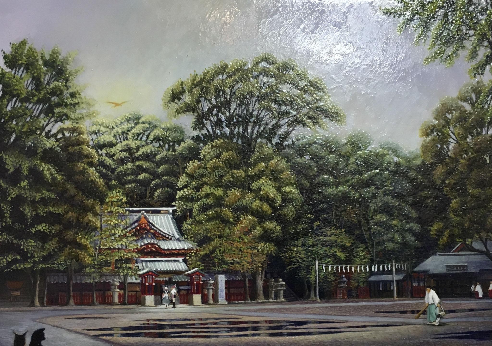 第6回 サムホール展静岡 市民賞 七宮詠時  「雨上がりの朝」