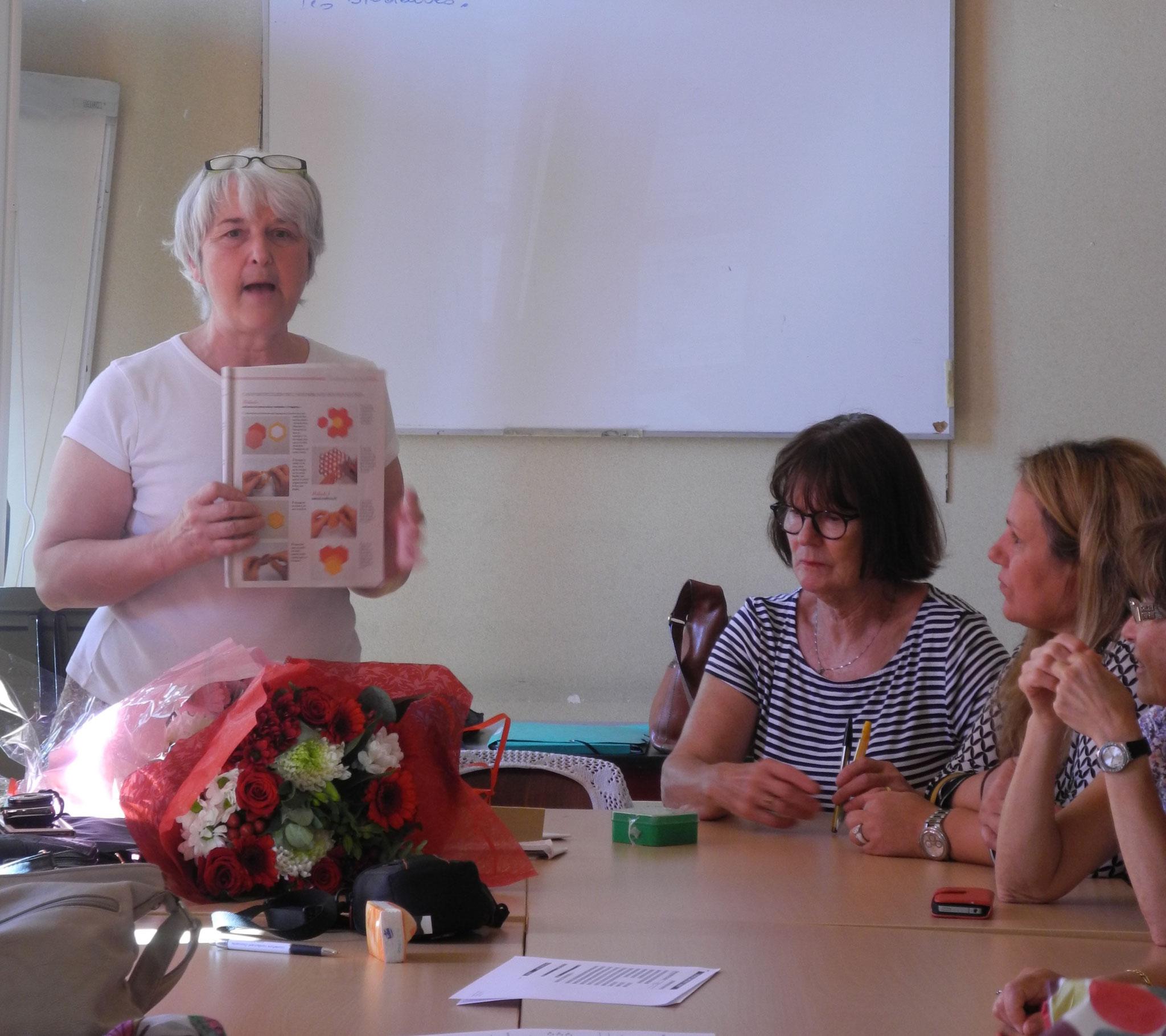 Annette nous présente les projets de l'année prochaine