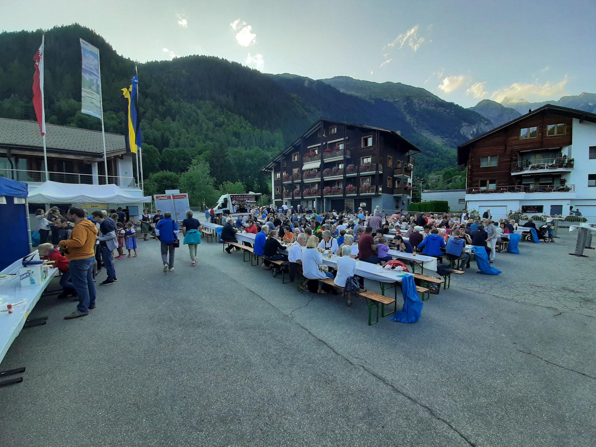 31. Juli in Fieschertal mit Raclette