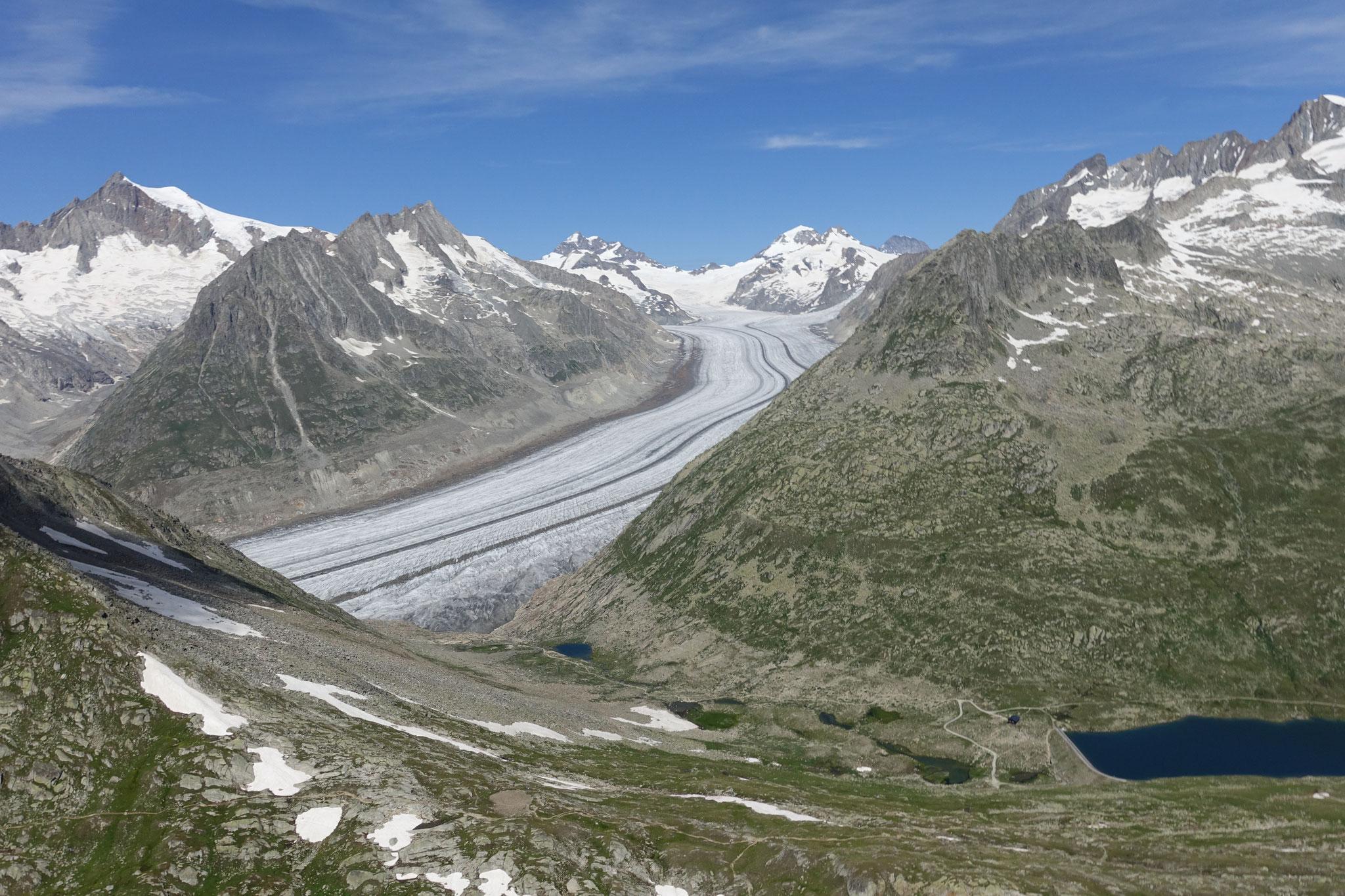 Ein Blick auf den Aletschgletscher