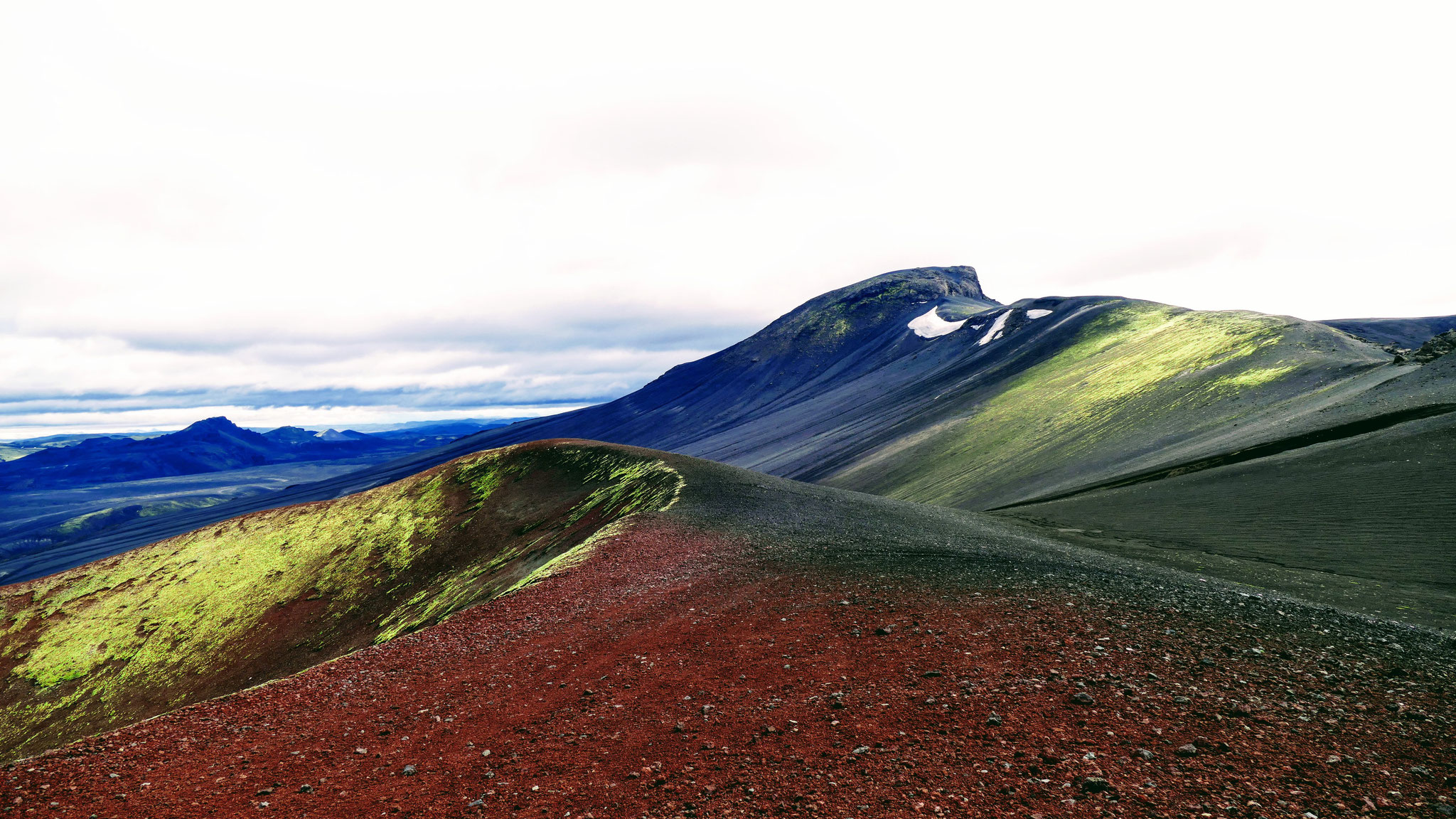 Vulkankrater Raudaskal
